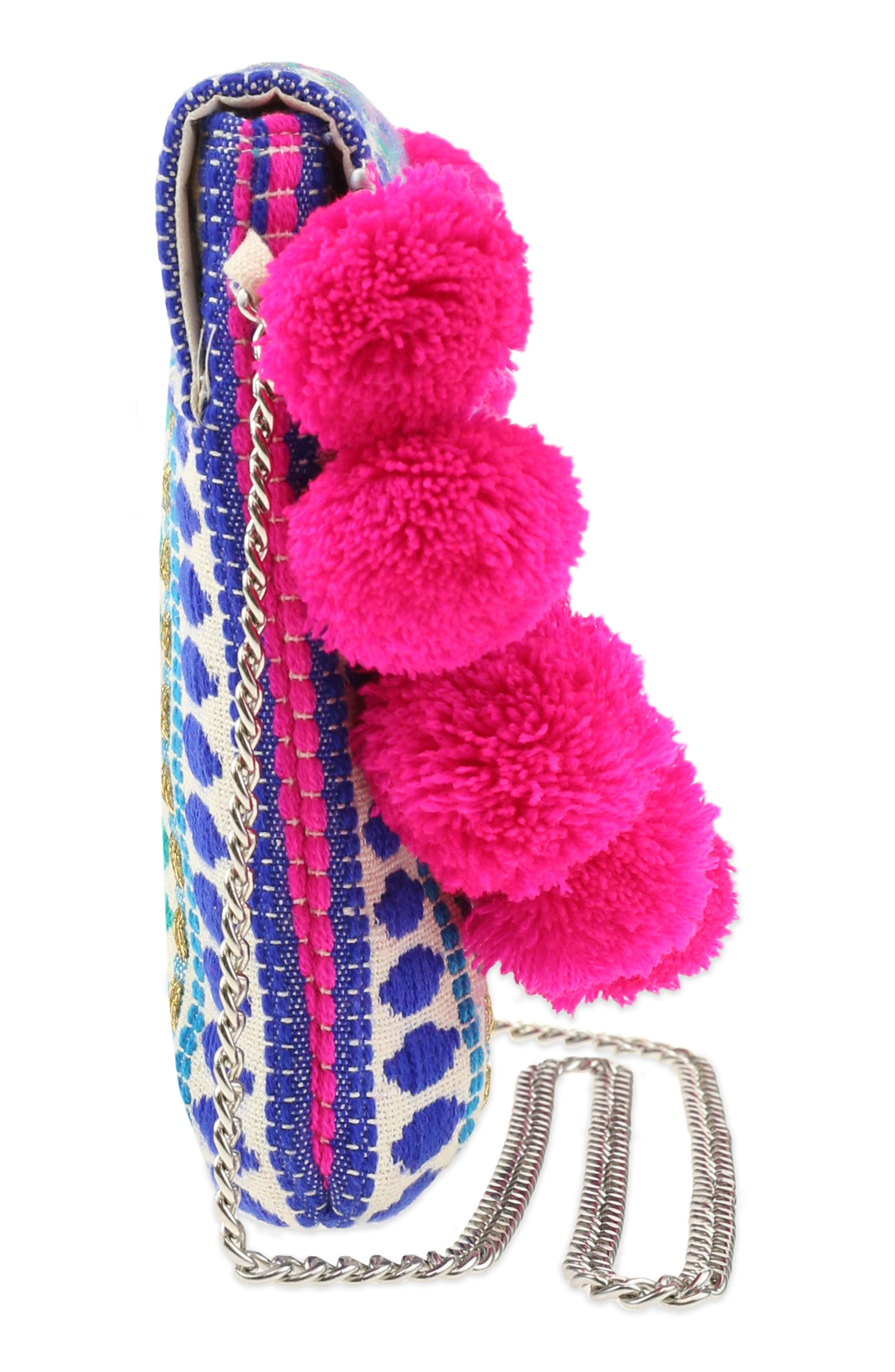 Embroidered Crossbody Bag,                             Alternate thumbnail 4, color,