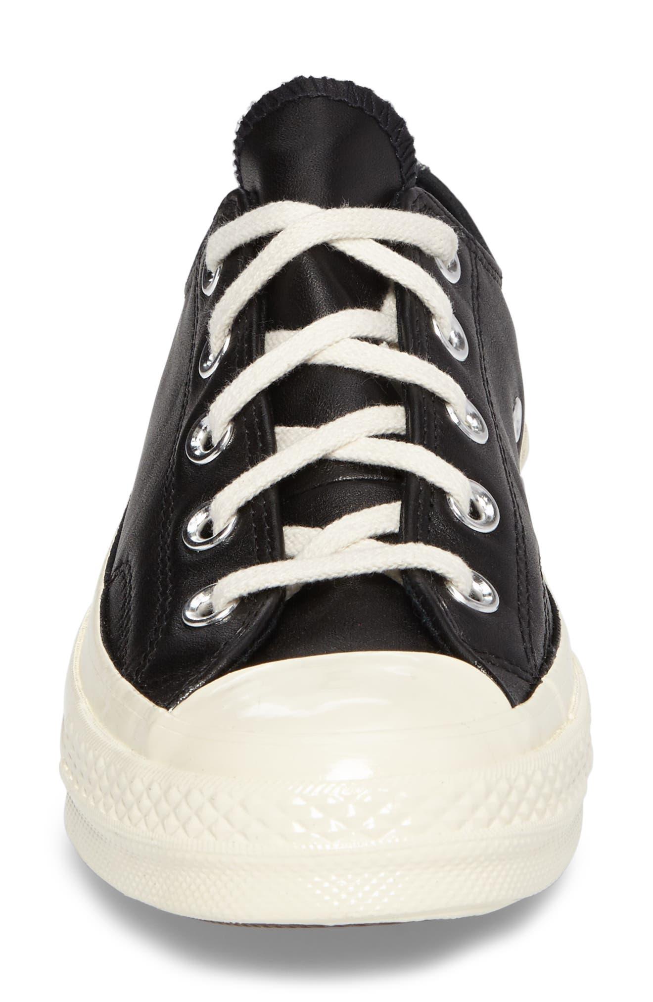 Chuck Taylor<sup>®</sup> All Star<sup>®</sup> Ox Genuine Calf Hair Sneaker,                             Alternate thumbnail 4, color,                             001