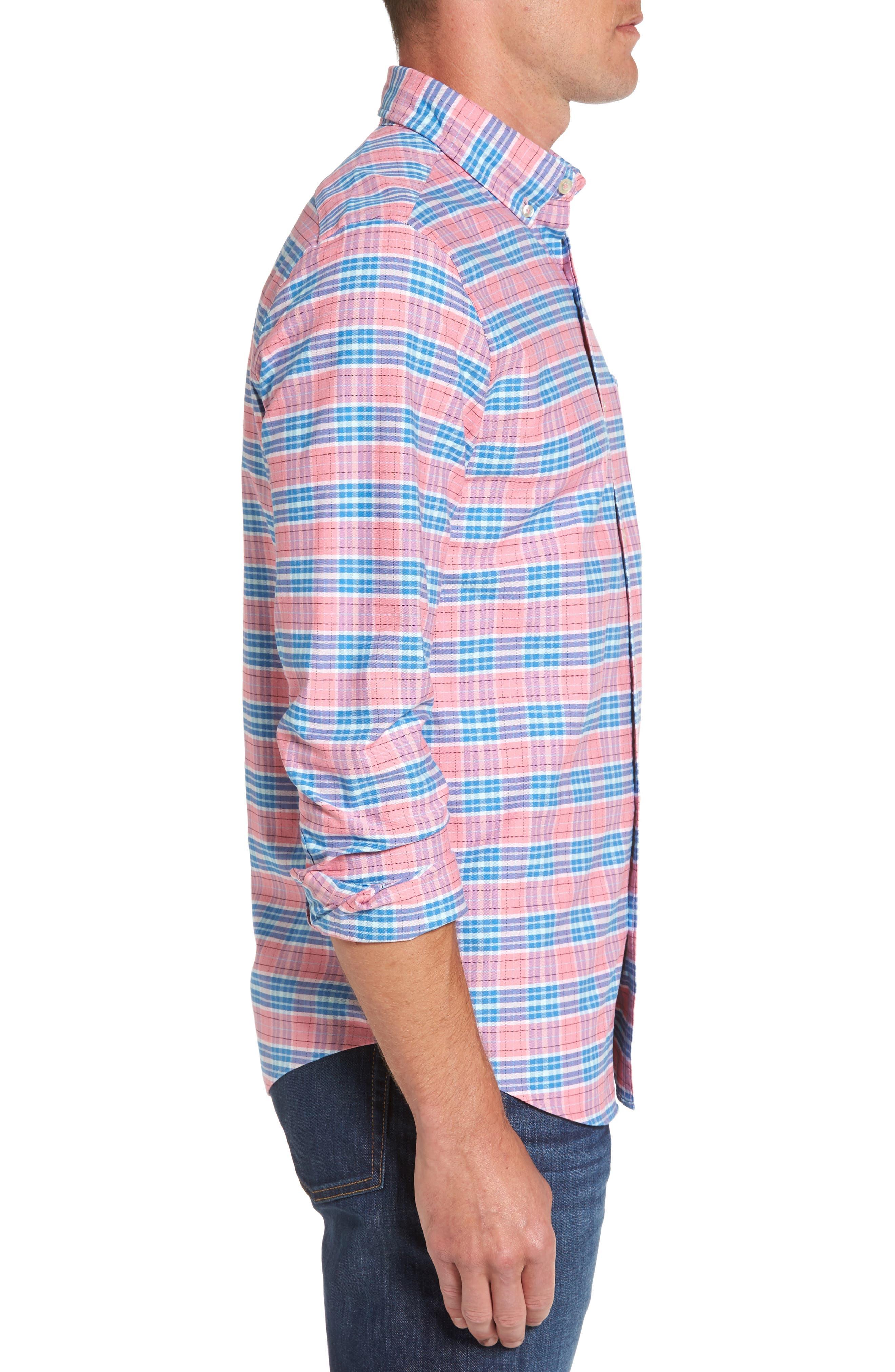 Island Reach Slim Fit Tucker Sport Shirt,                             Alternate thumbnail 3, color,
