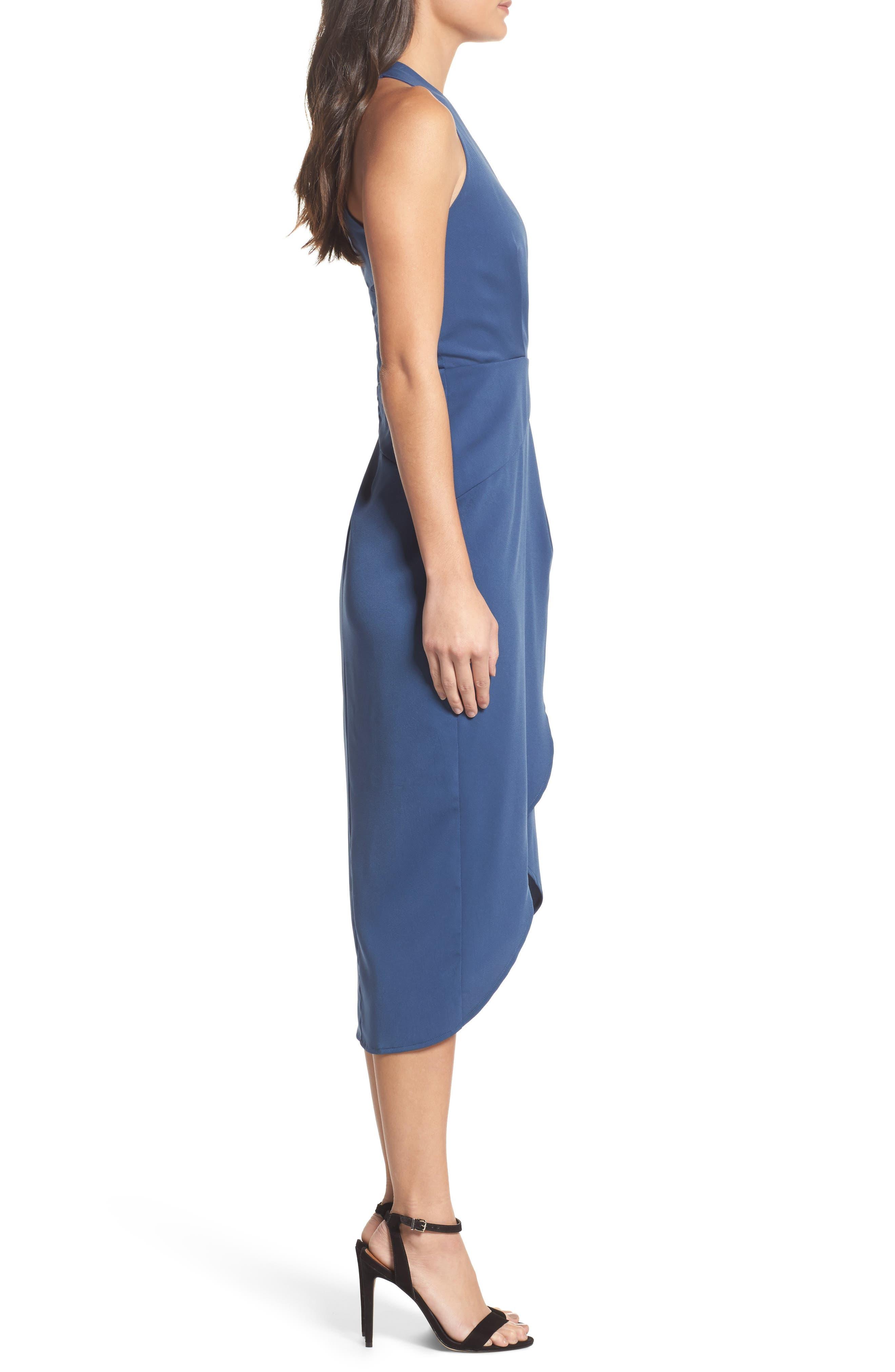 Claudia Drape Midi Dress,                             Alternate thumbnail 6, color,