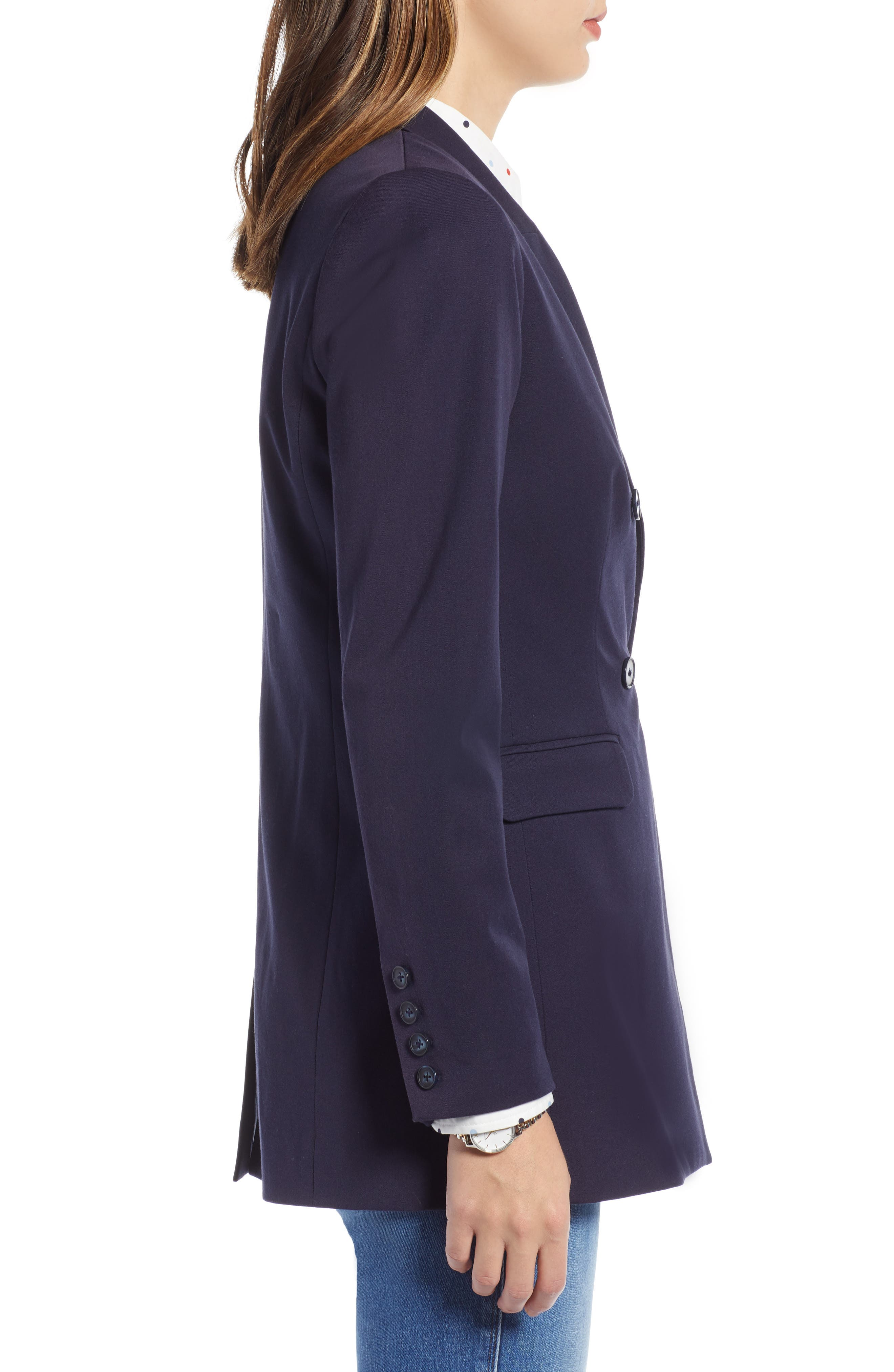 1901,                             Double Breasted Blazer,                             Alternate thumbnail 3, color,                             NAVY NIGHT