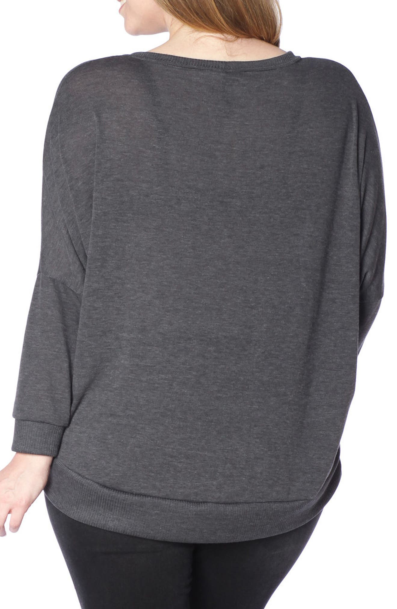 Dolman Sleeve Ribbed Pullover,                             Alternate thumbnail 6, color,