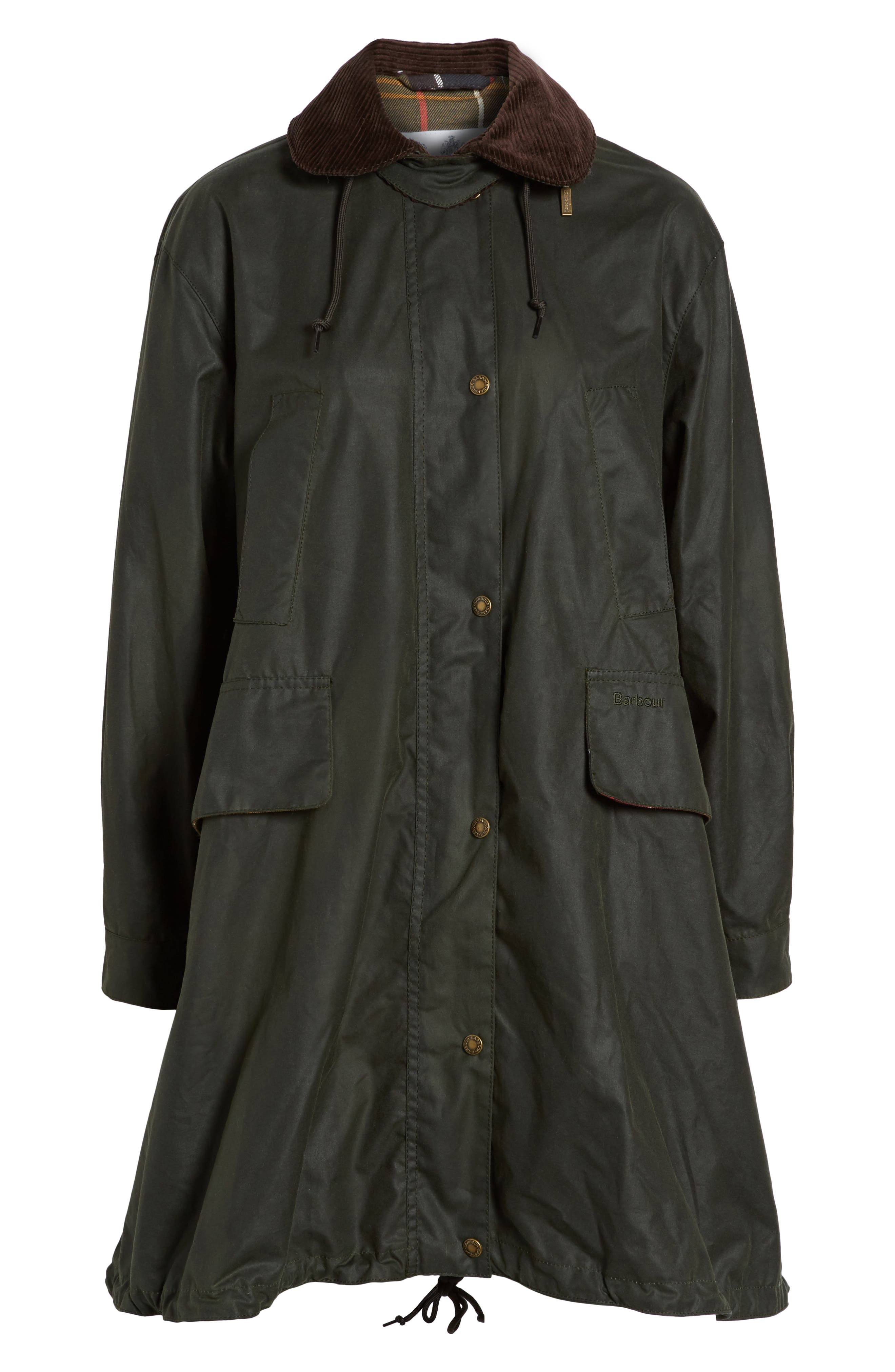 Thirkleby Water Resistant Waxed Canvas Smock Jacket,                             Alternate thumbnail 5, color,                             302