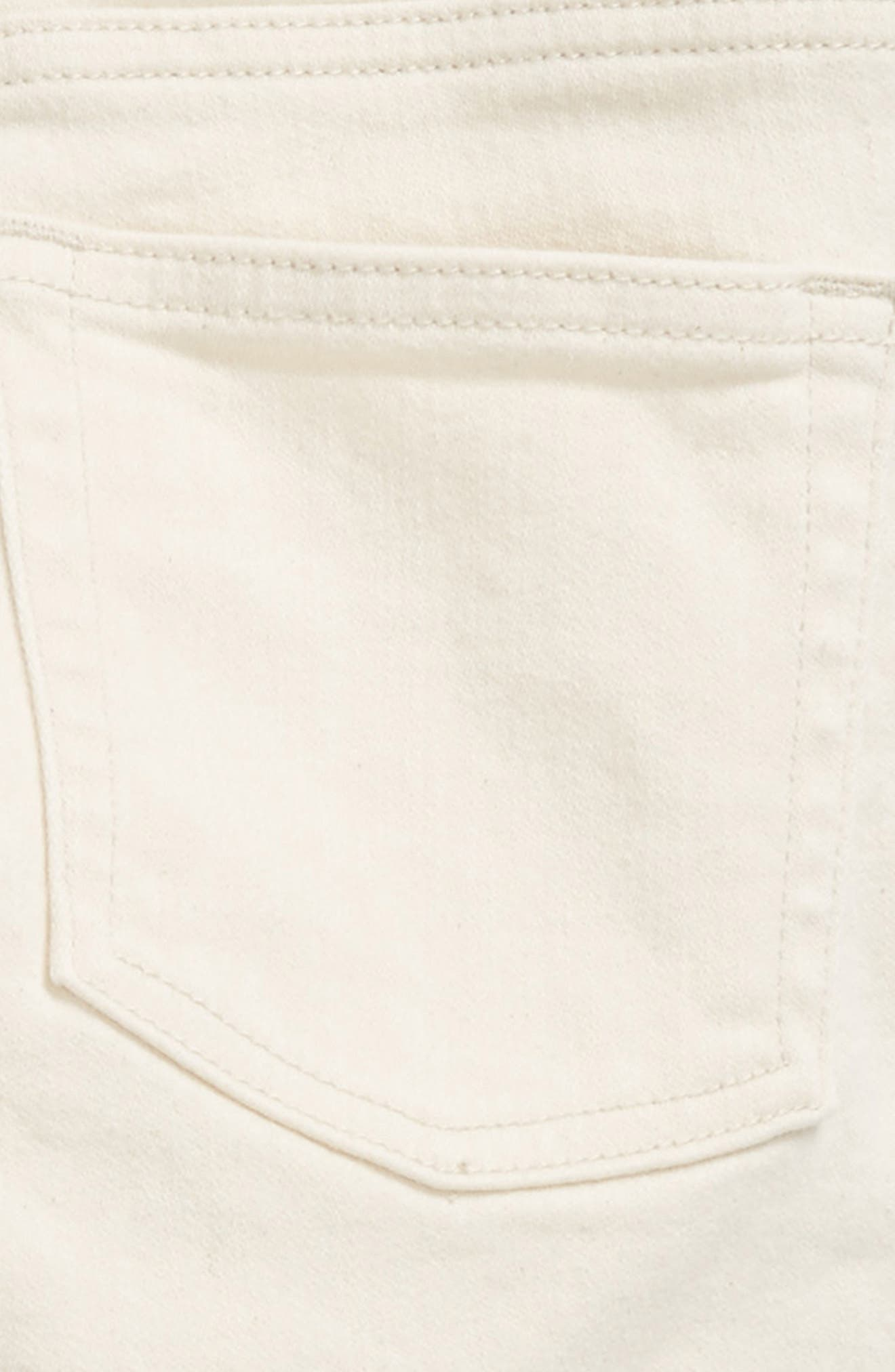 Ecru Slim Fit Pants,                             Alternate thumbnail 3, color,                             900