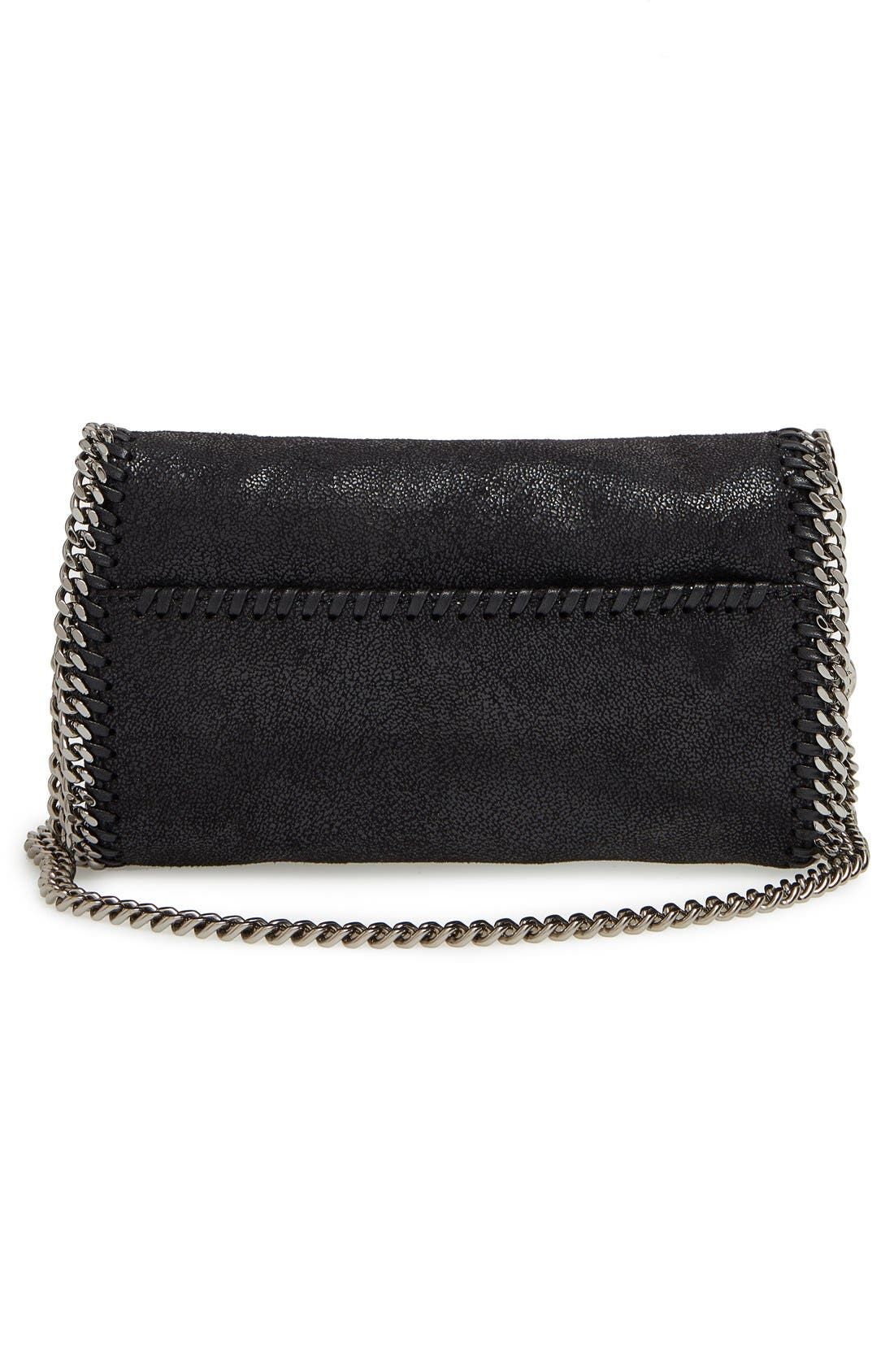 STELLA MCCARTNEY,                             'Falabella Crystal' Embellished Faux Leather Crossbody Bag,                             Alternate thumbnail 4, color,                             001