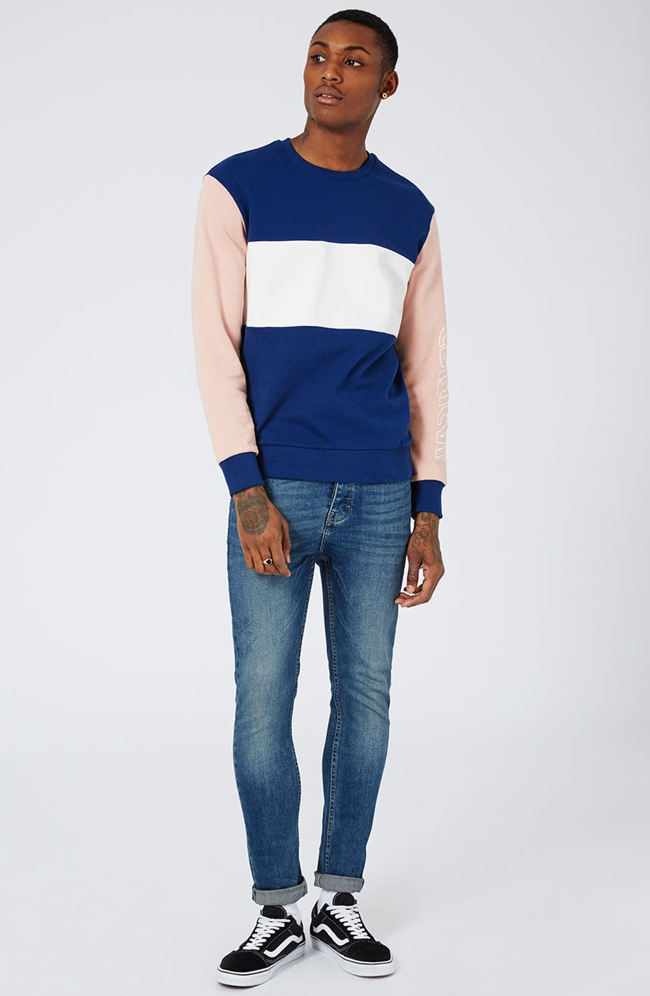 Stretch Skinny Jeans,                             Alternate thumbnail 6, color,                             420