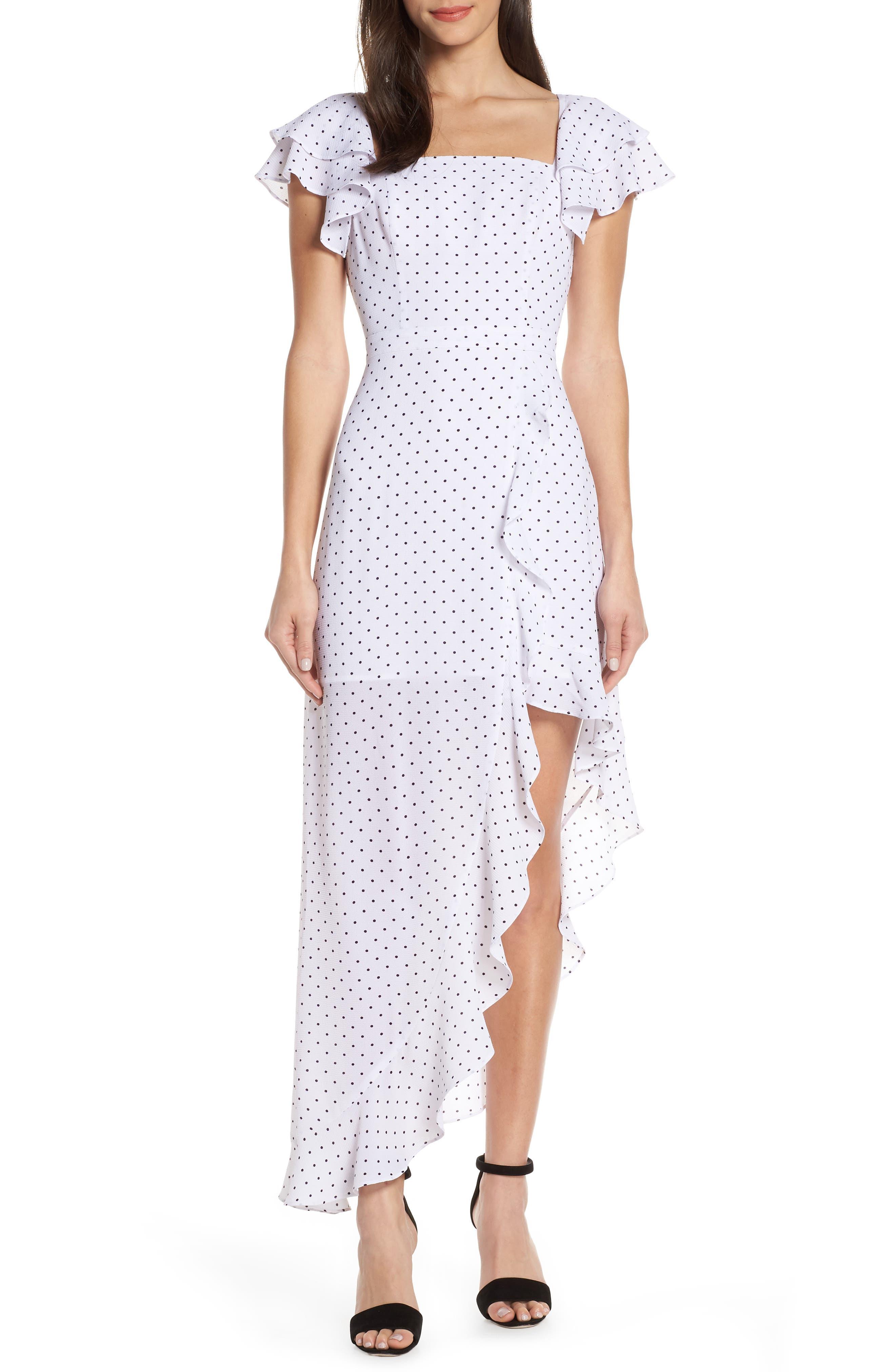 Ali & Jay Terrace Time Polka Dot Maxi Dress, White