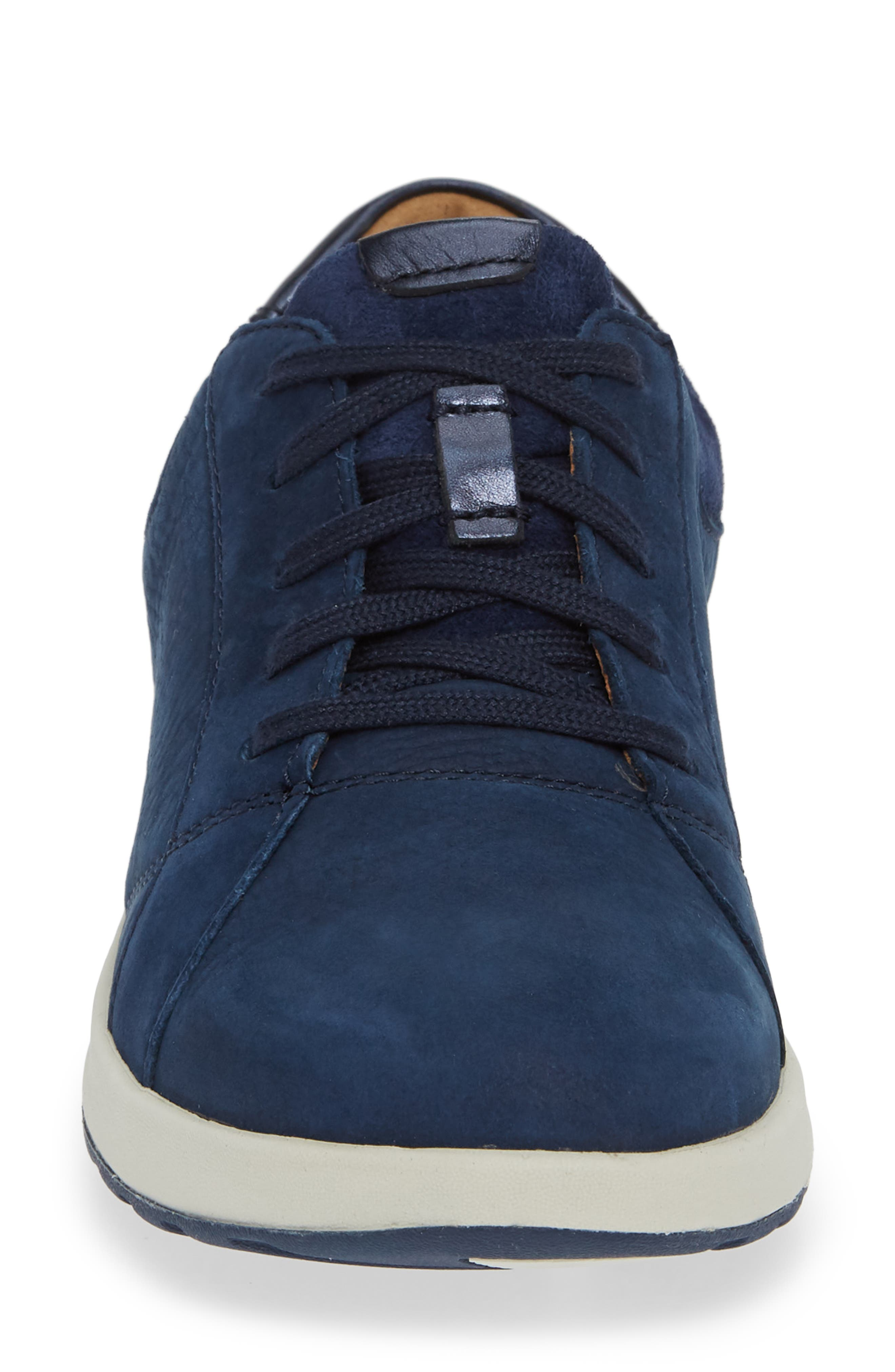 UnAdorn Lace-Up Sneaker,                             Alternate thumbnail 4, color,                             NAVY NUBUCK
