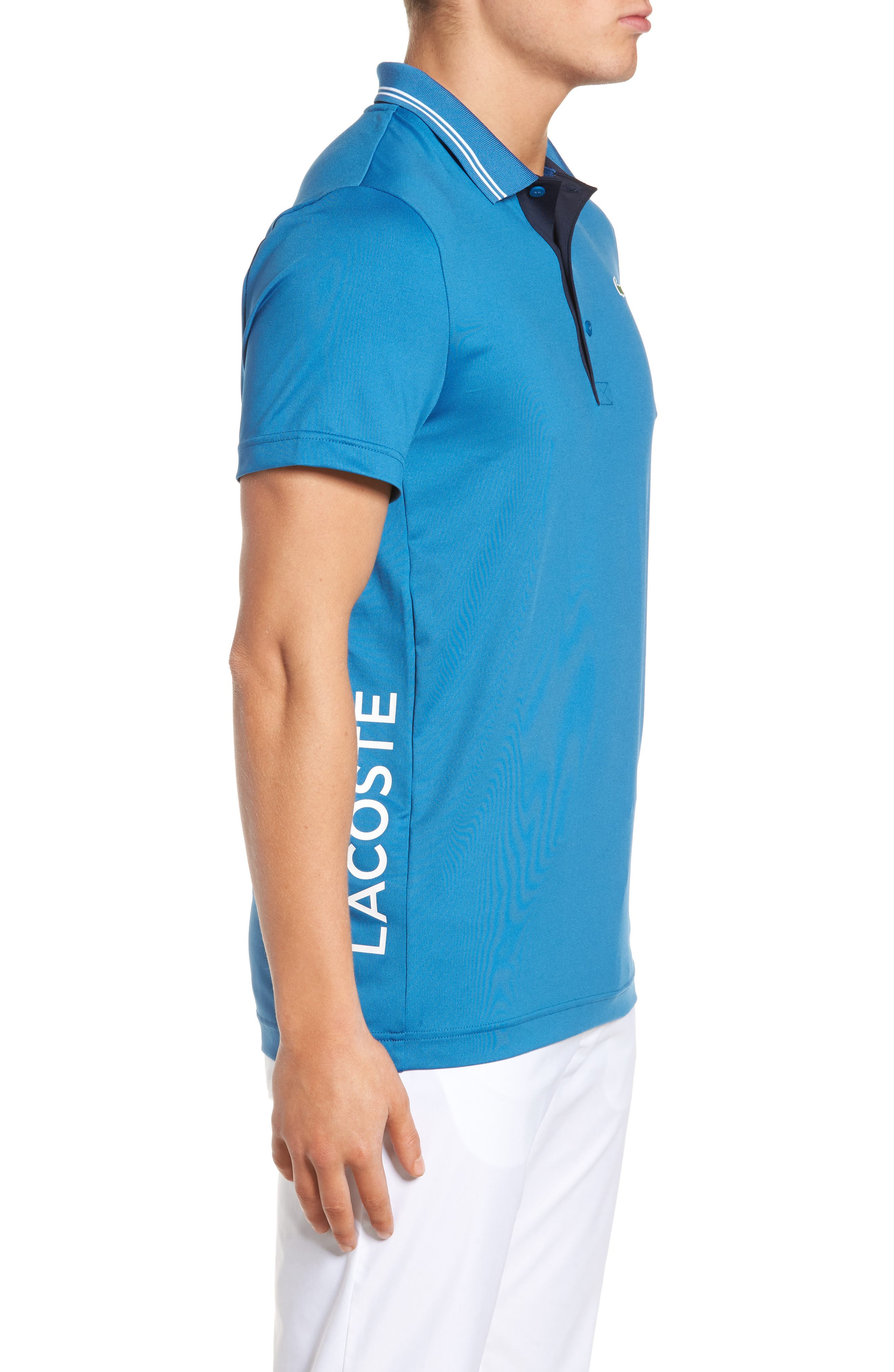 Sport Lettering Stretch Tech Jersey Polo,                             Alternate thumbnail 9, color,