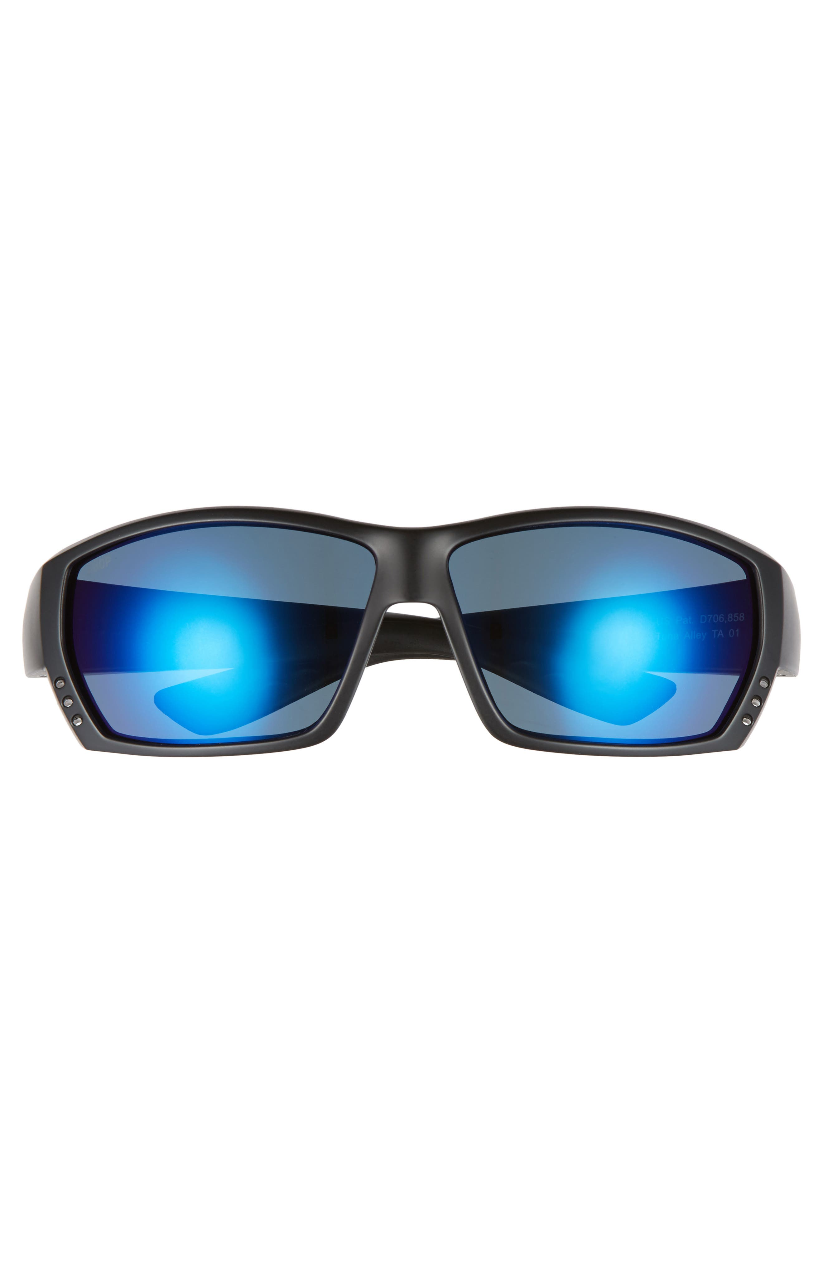 Tuna Alley 60mm Polarized Sunglasses,                             Alternate thumbnail 2, color,                             BLACKOUT/ BLUE MIRROR