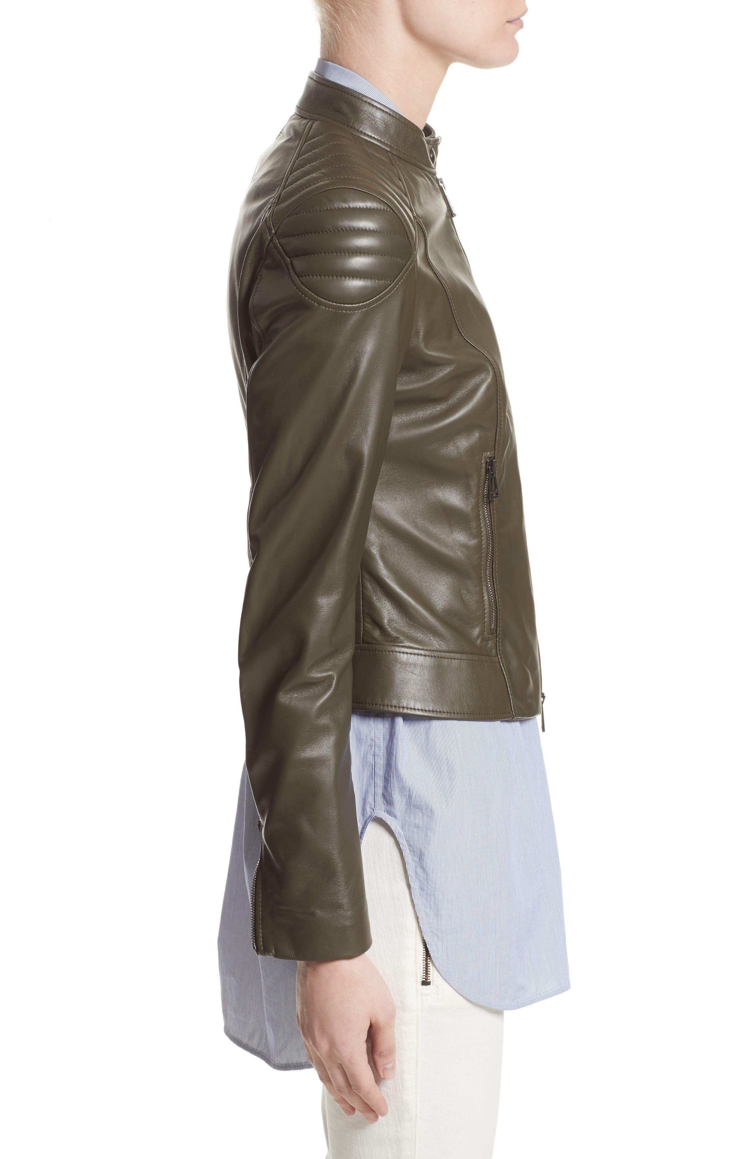 Mollison Leather Moto Jacket,                             Alternate thumbnail 7, color,