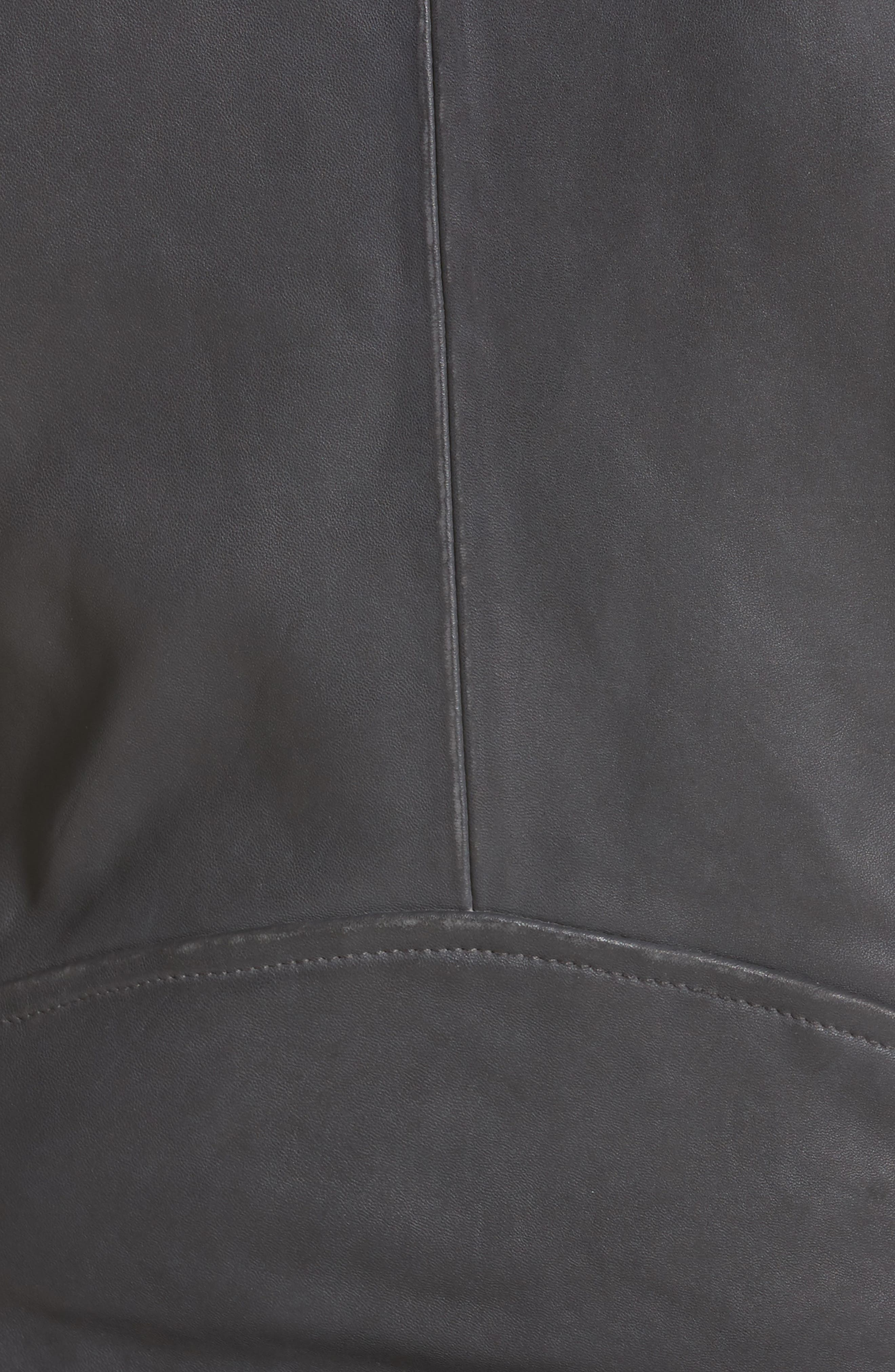 'Ashville' Lambskin Leather Moto Jacket,                             Alternate thumbnail 5, color,                             029