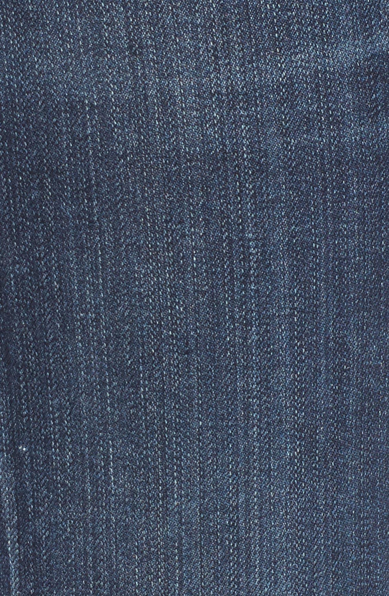 Rocket Step Hem Skinny Jeans,                             Alternate thumbnail 6, color,                             401