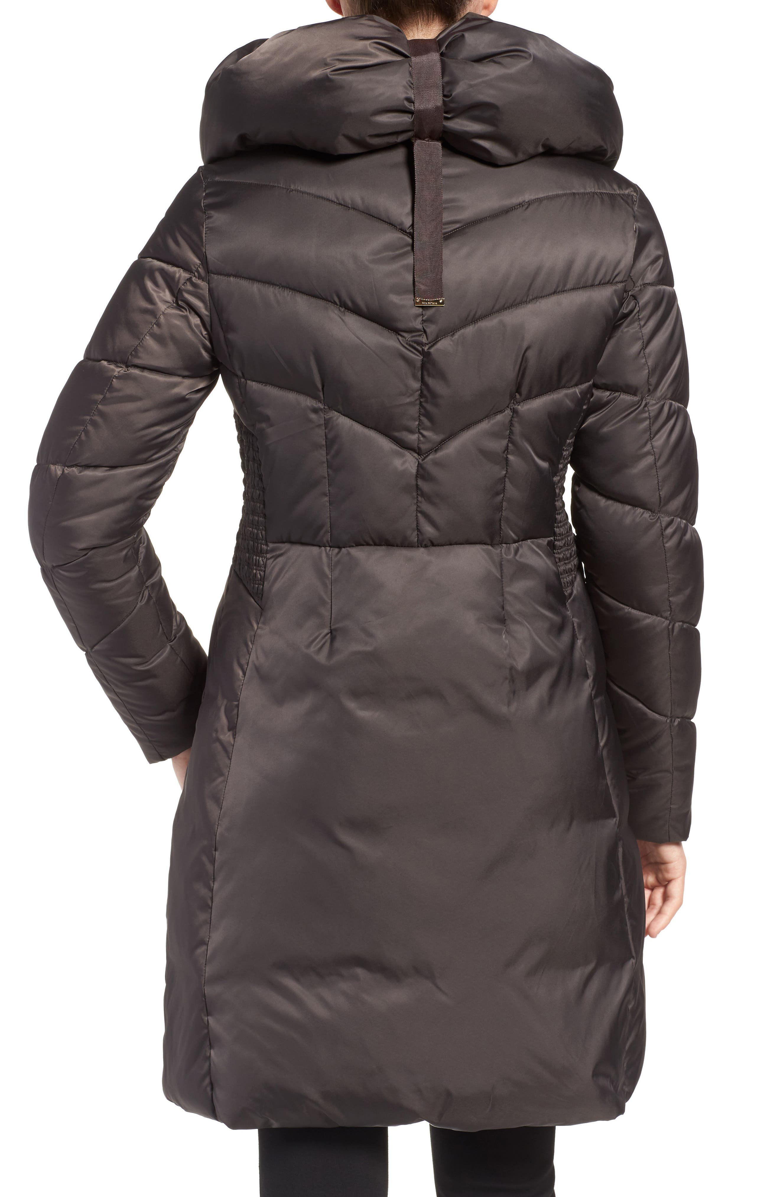 Water Repellent Quilted Puffer Coat with Faux Fur Trim,                             Alternate thumbnail 2, color,                             033