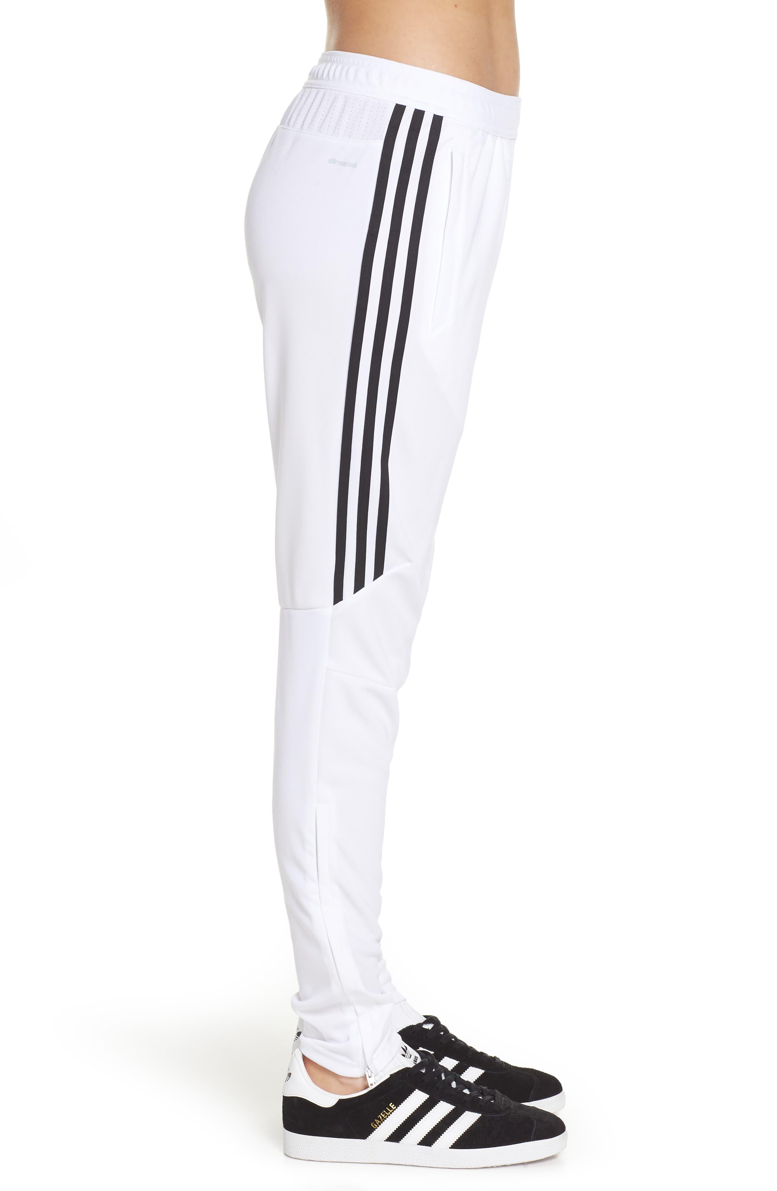 Tiro 17 Training Pants,                             Alternate thumbnail 3, color,                             WHITE/ BLACK