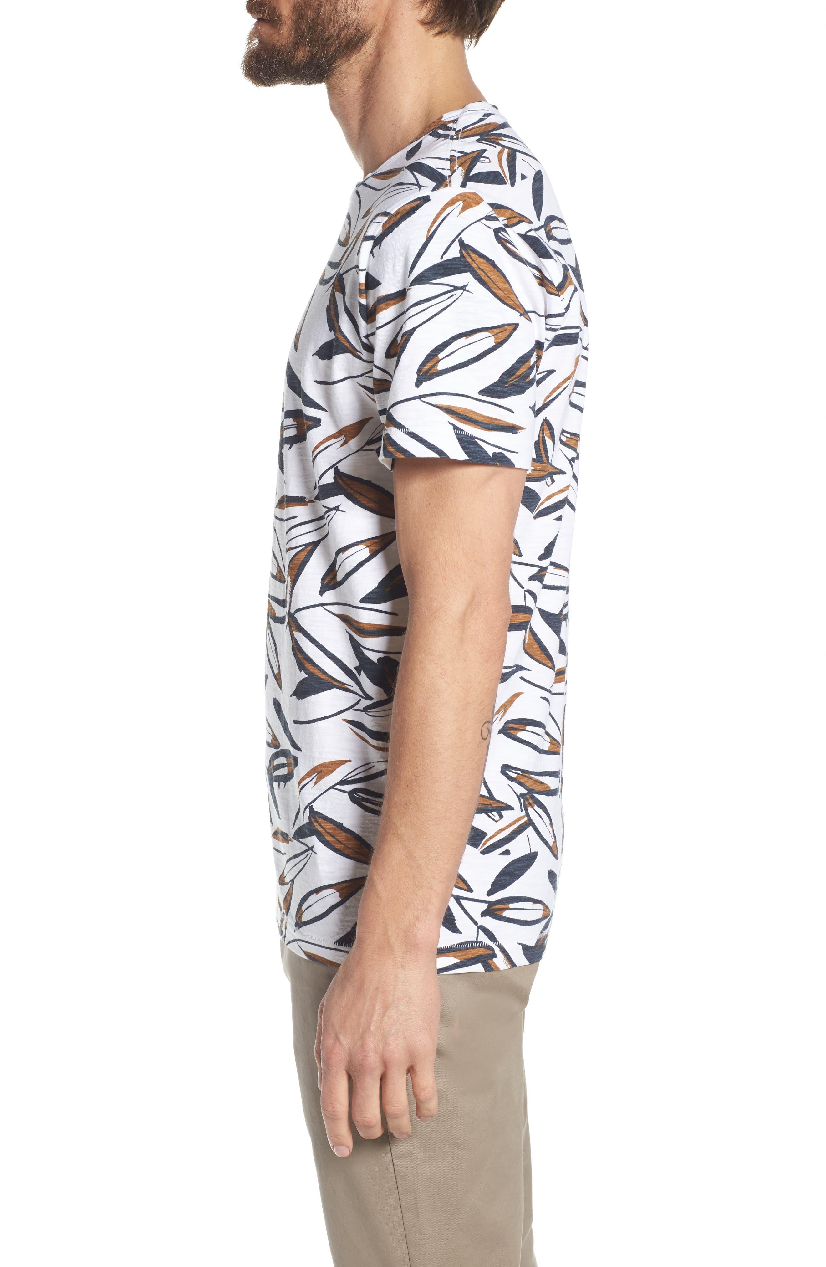 Leafy Arbour Slim Fit Heavyweight T-Shirt,                             Alternate thumbnail 3, color,                             100