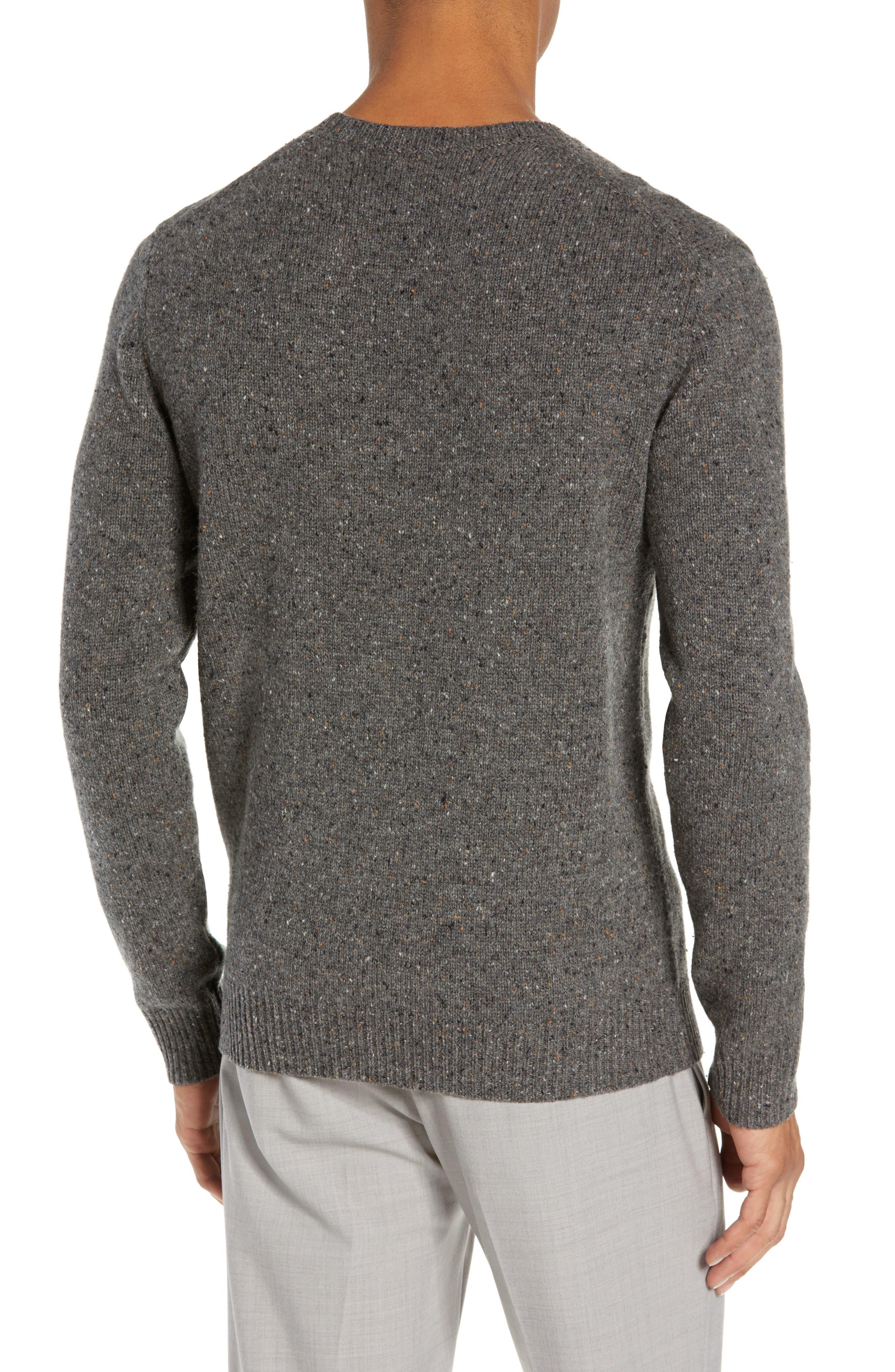 Jaxon Trim Fit Wool Sweater,                             Alternate thumbnail 2, color,                             GREY MULTI