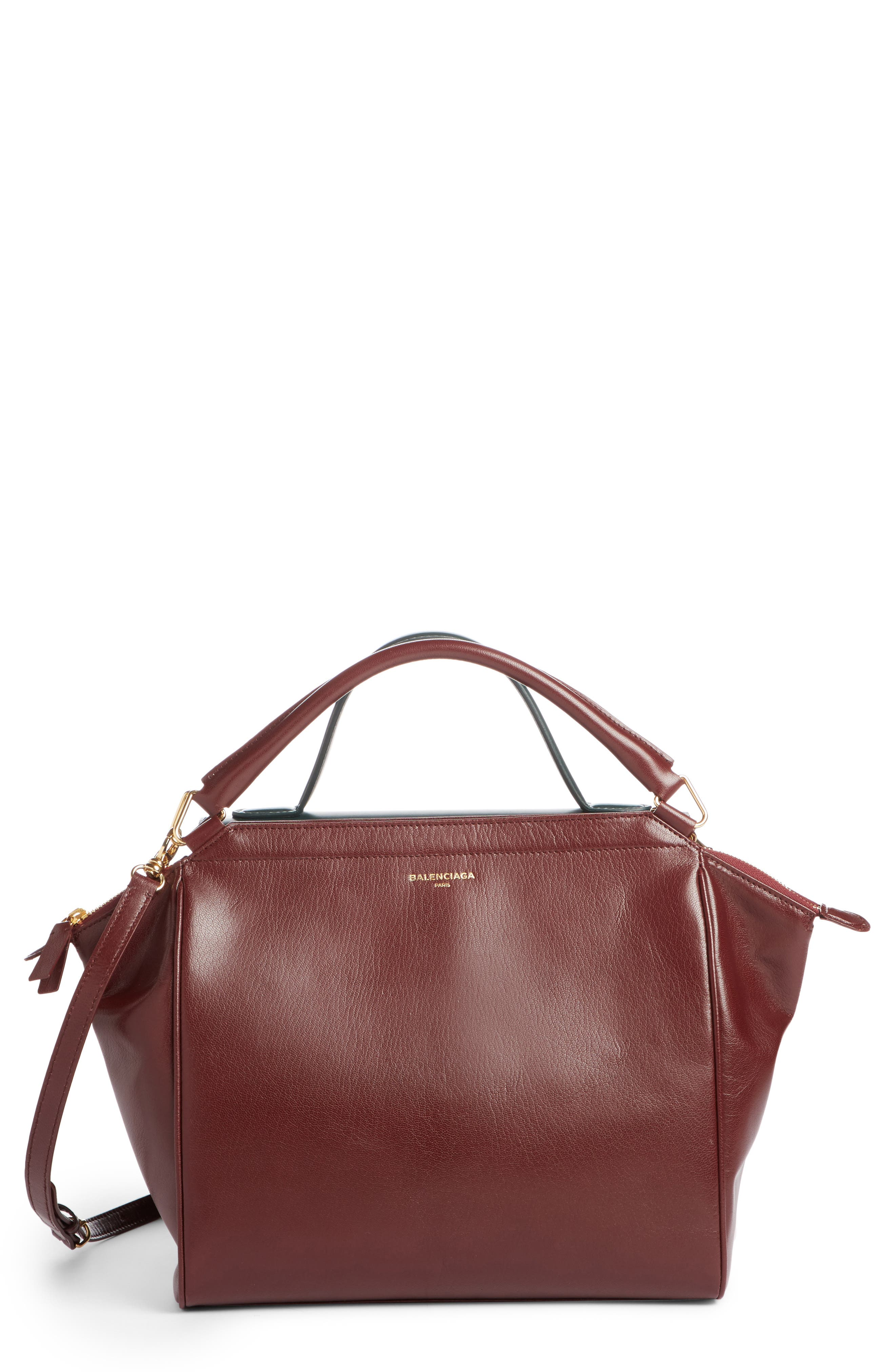 Collage Double Calfskin Leather Bag,                             Main thumbnail 1, color,                             641