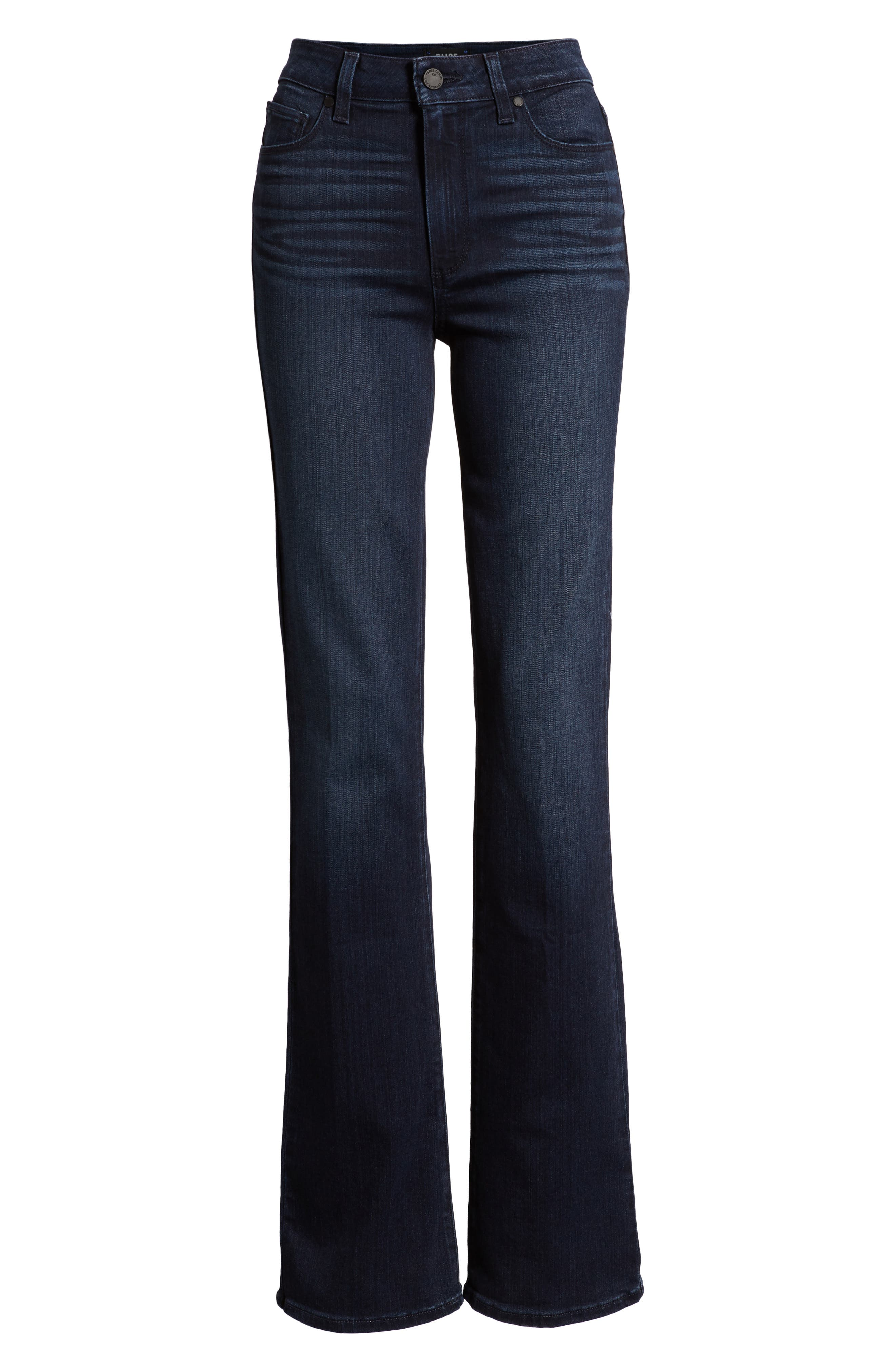 Manhattan High Waist Bootcut Jeans,                             Alternate thumbnail 7, color,                             401