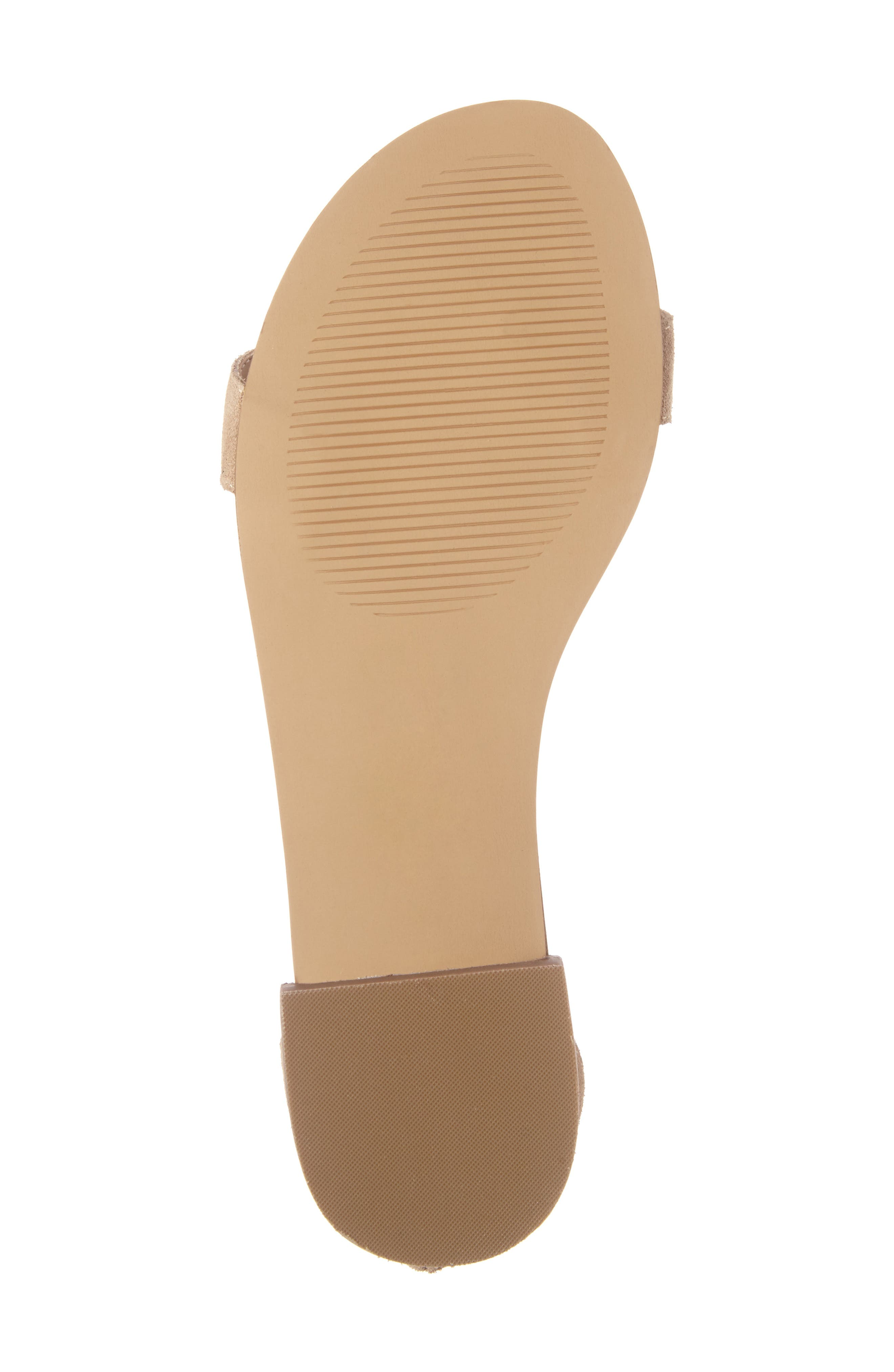 Koa Fringed T-Strap Sandal,                             Alternate thumbnail 6, color,                             200
