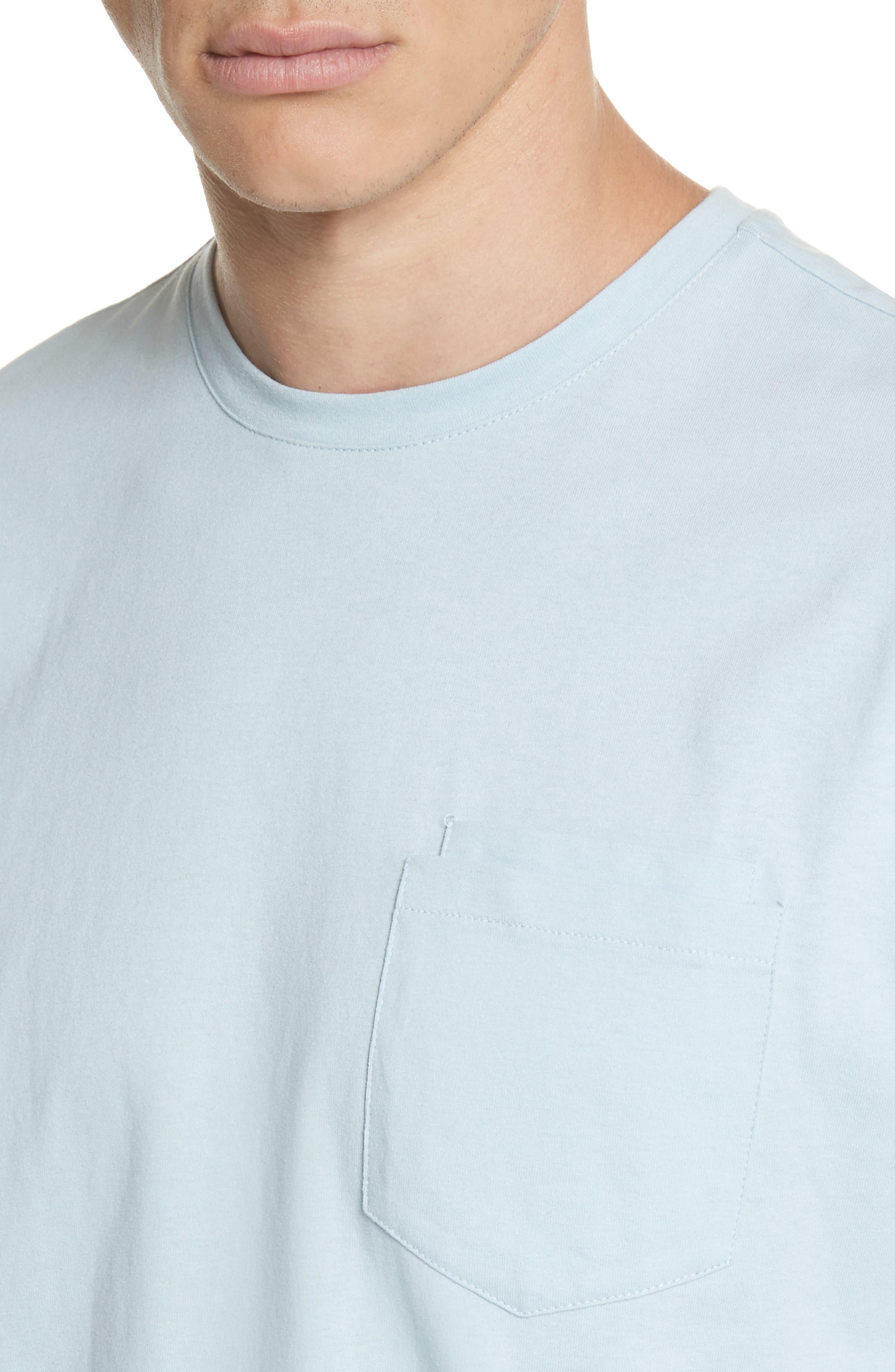 Double Pocket T-Shirt,                             Alternate thumbnail 4, color,                             BLUE