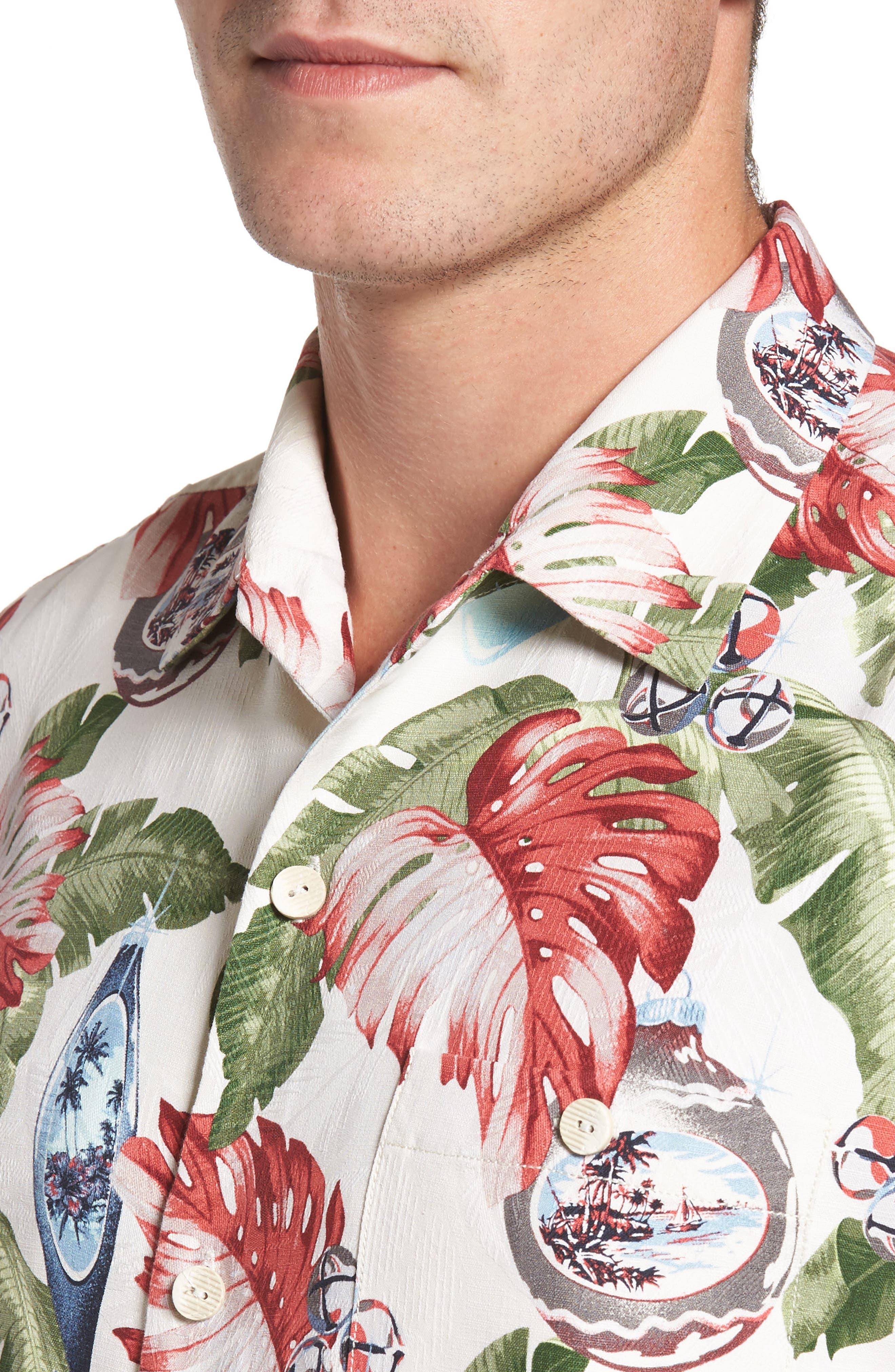 With Bells On Silk Camp Shirt,                             Alternate thumbnail 8, color,