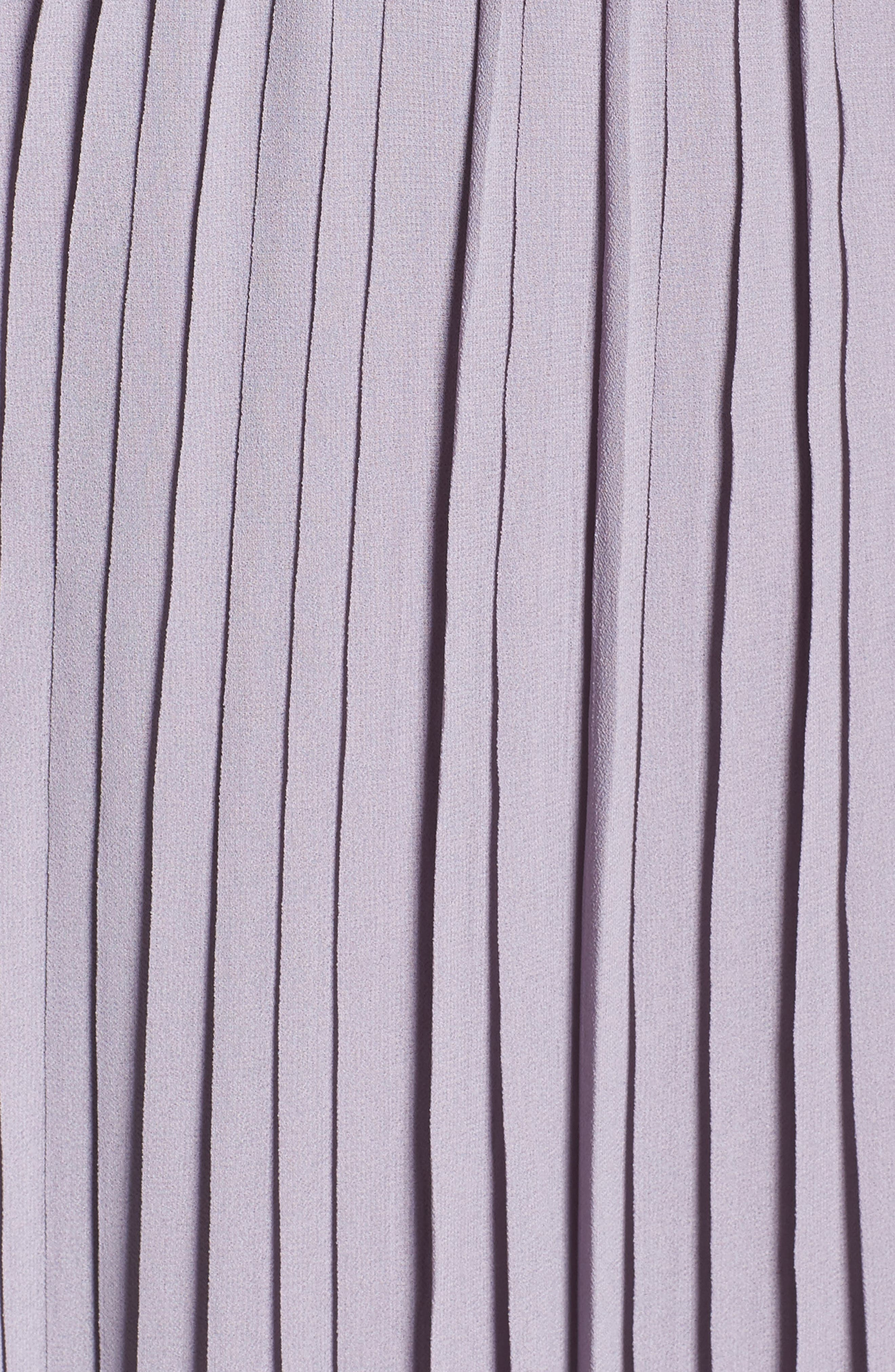Plunging V-Neck Pleat Georgette Gown,                             Alternate thumbnail 40, color,