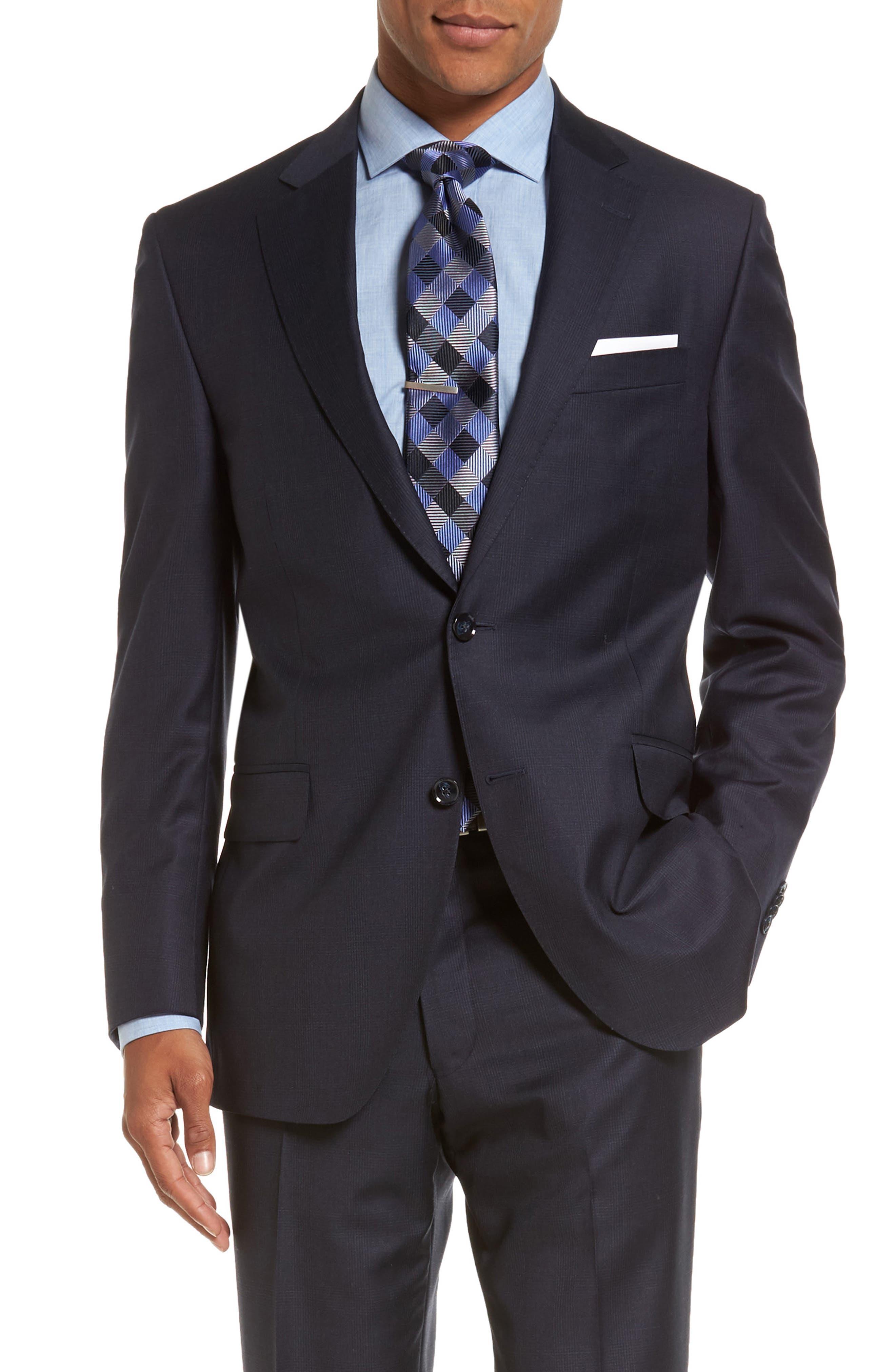 Flynn Classic Fit Plaid Wool Suit,                             Alternate thumbnail 5, color,                             410