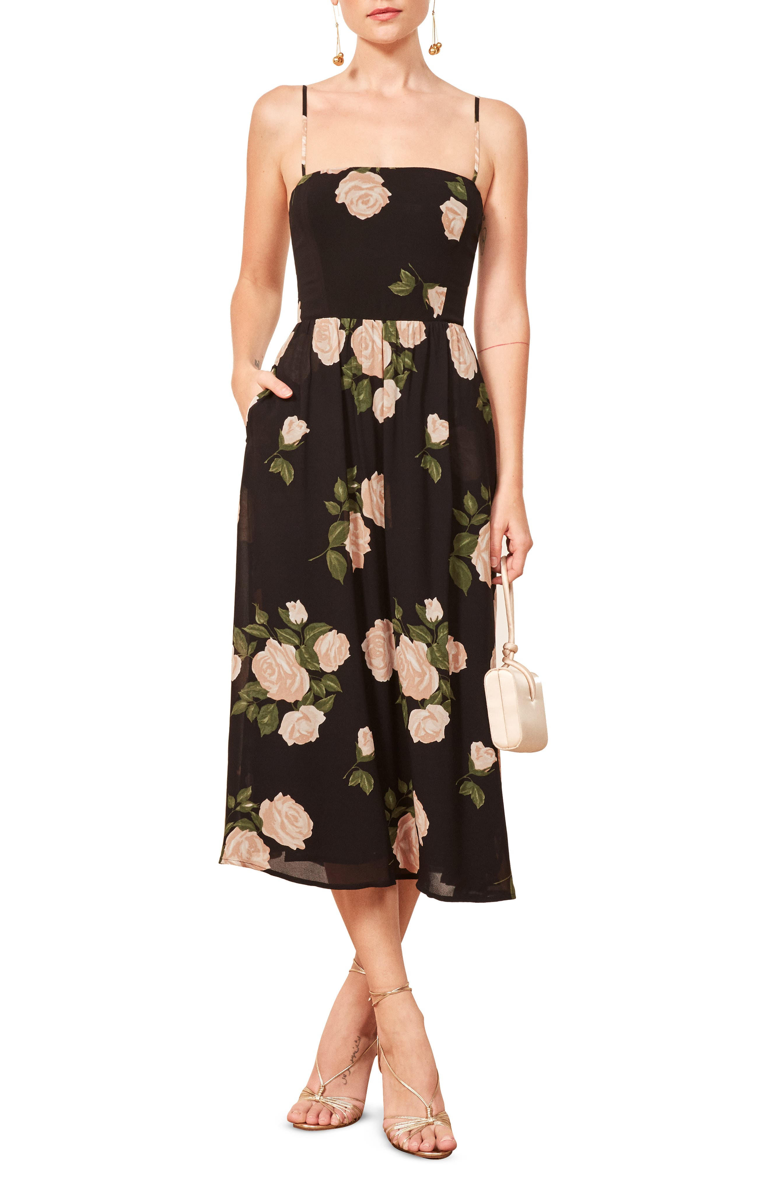 Rosehip Fit & Flare Dress,                             Main thumbnail 1, color,                             VENUS