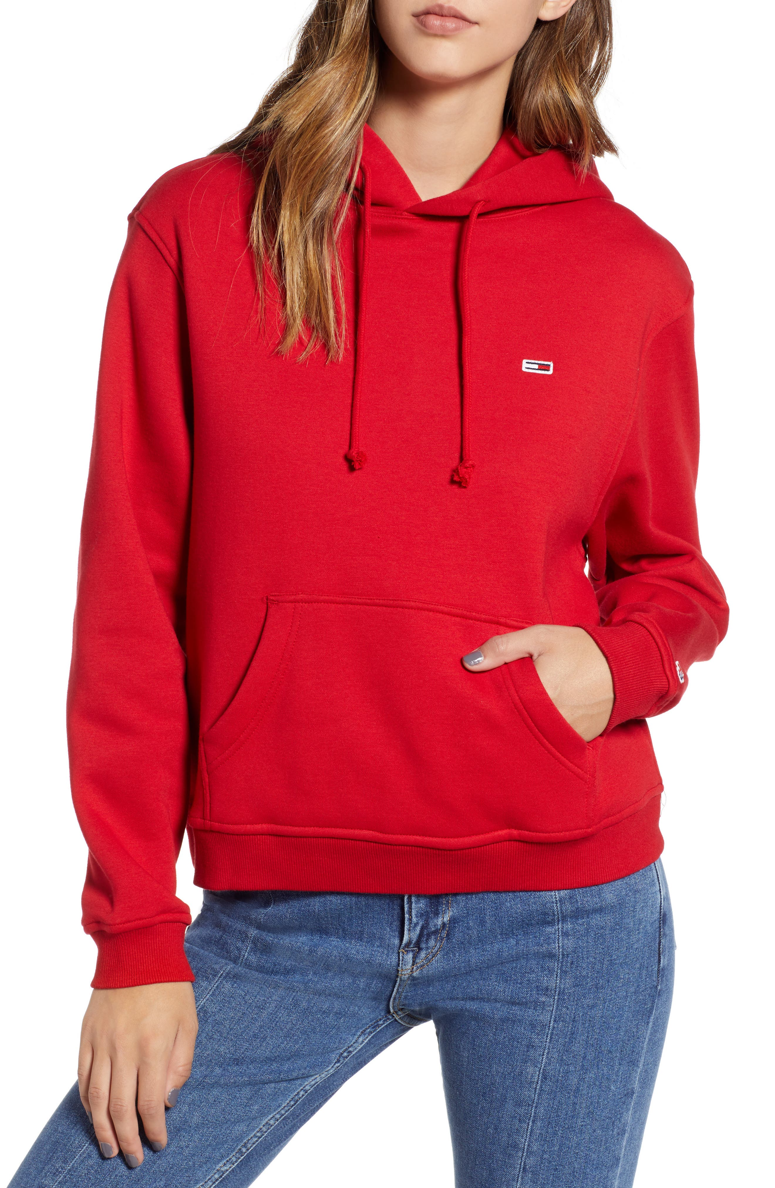 TJW Tommy Classics Hoodie,                             Main thumbnail 1, color,                             RUMBA RED