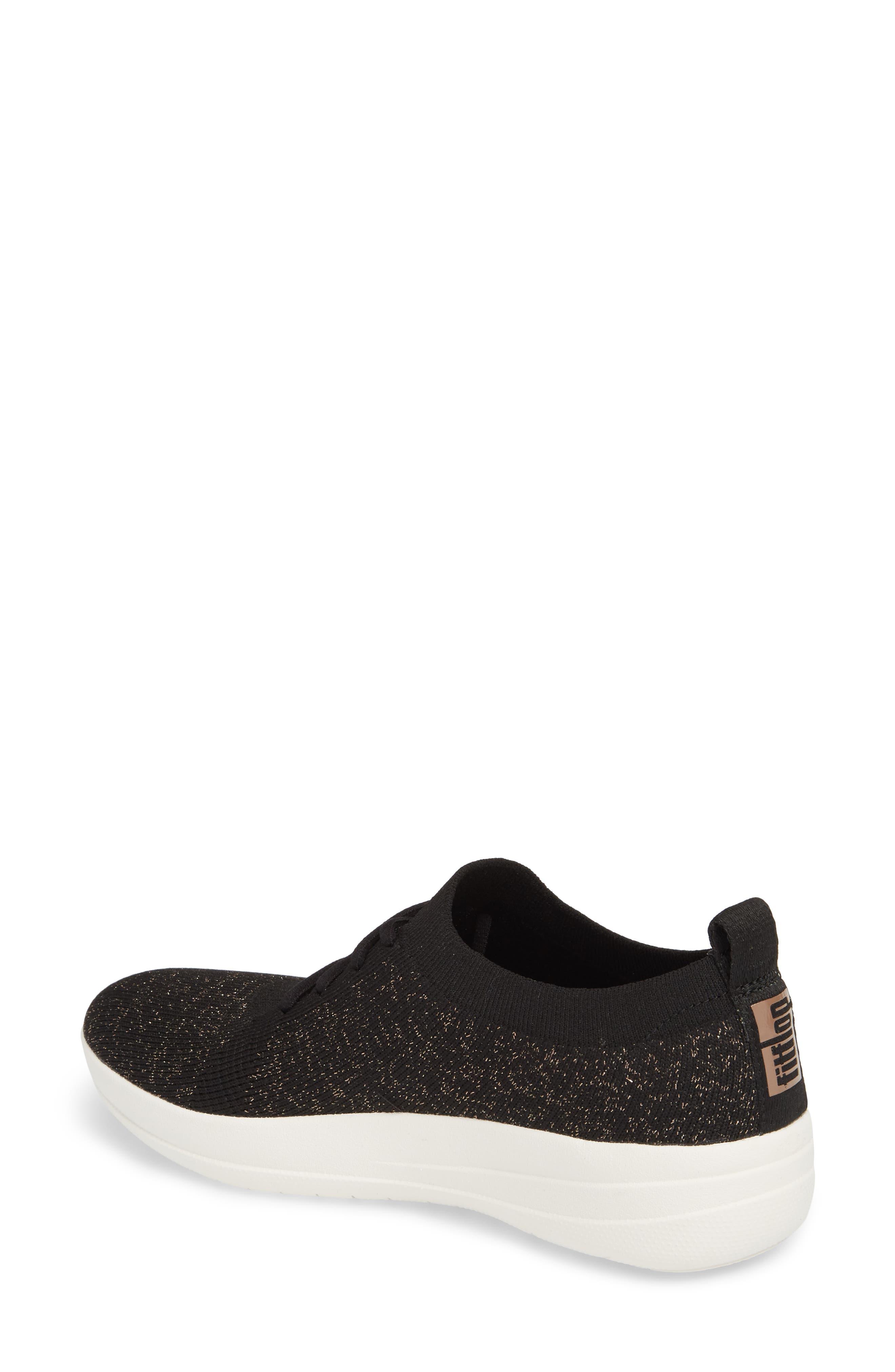 Uberknit<sup>™</sup> F-Sporty Sneaker,                             Alternate thumbnail 2, color,                             BLACK FABRIC