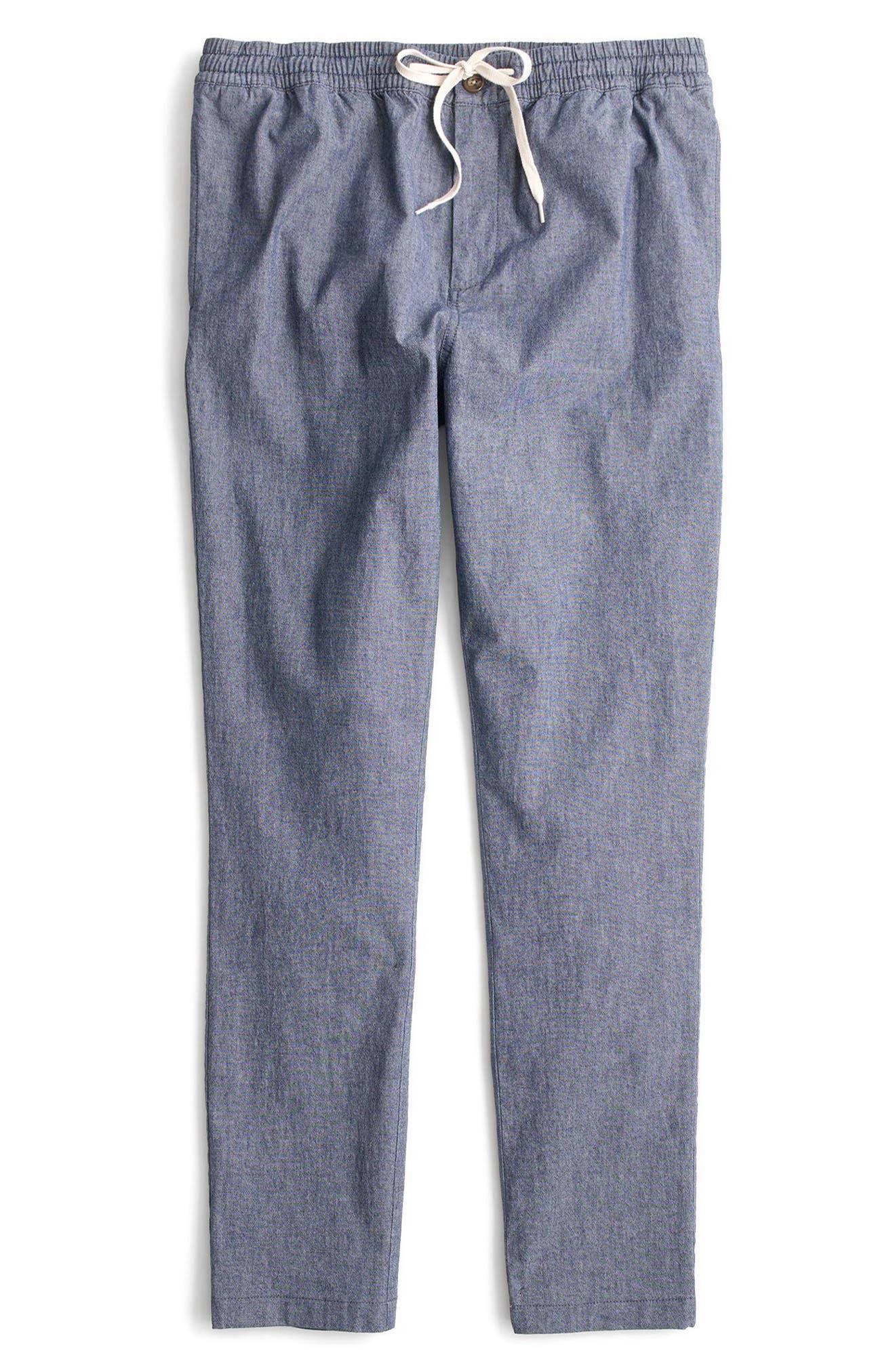 Chambray Drawstring Pants,                             Alternate thumbnail 4, color,                             402