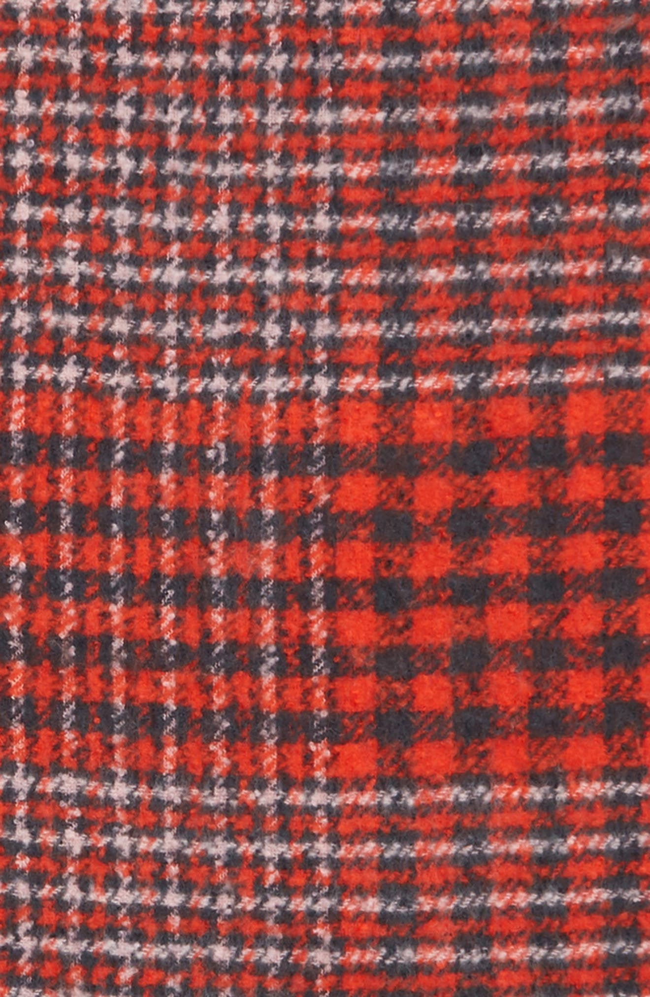 Check Blanket Scarf,                             Alternate thumbnail 4, color,                             RED COMBO