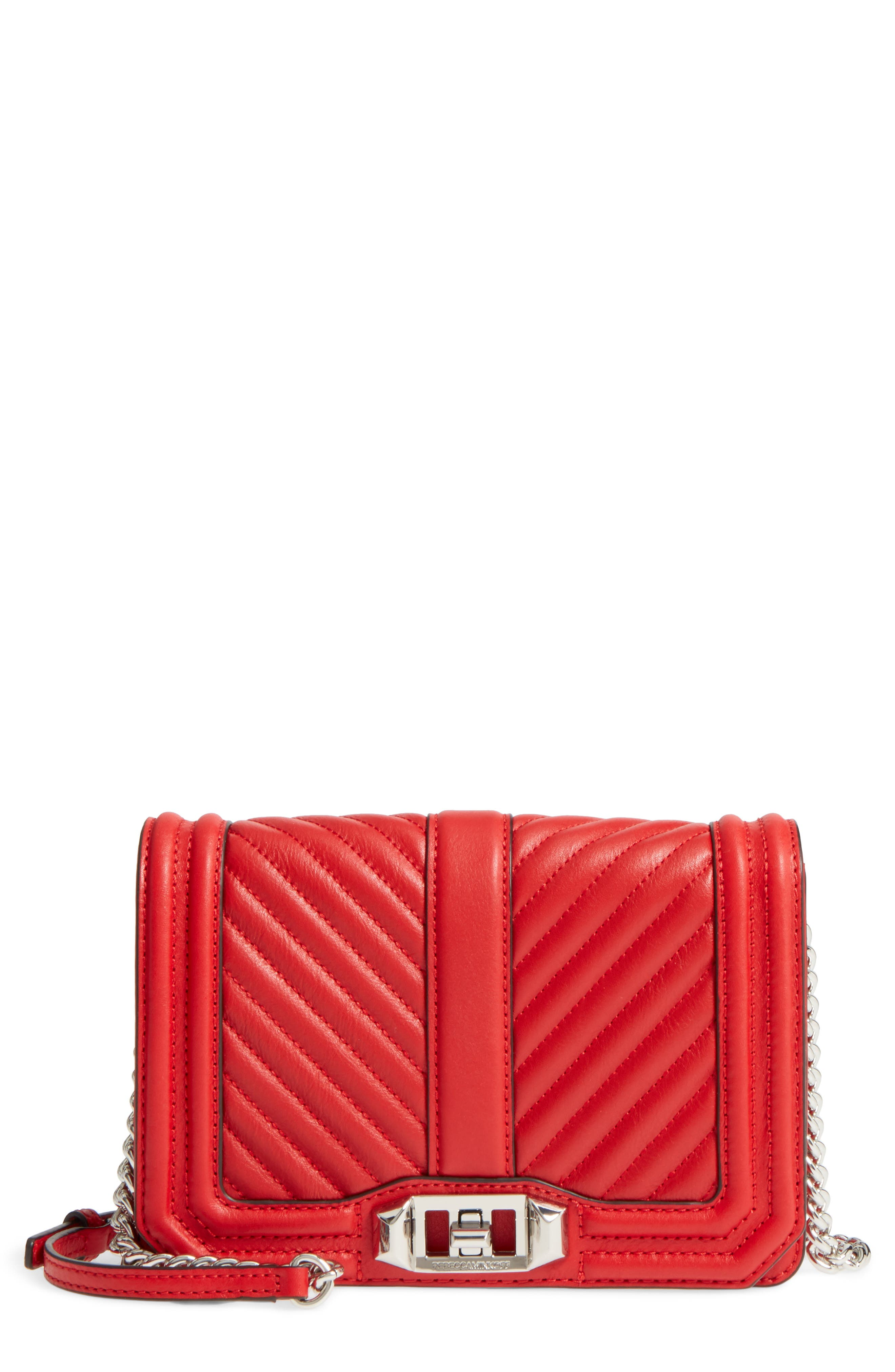 Small Love Quilted Leather Crossbody Bag,                         Main,                         color, 636