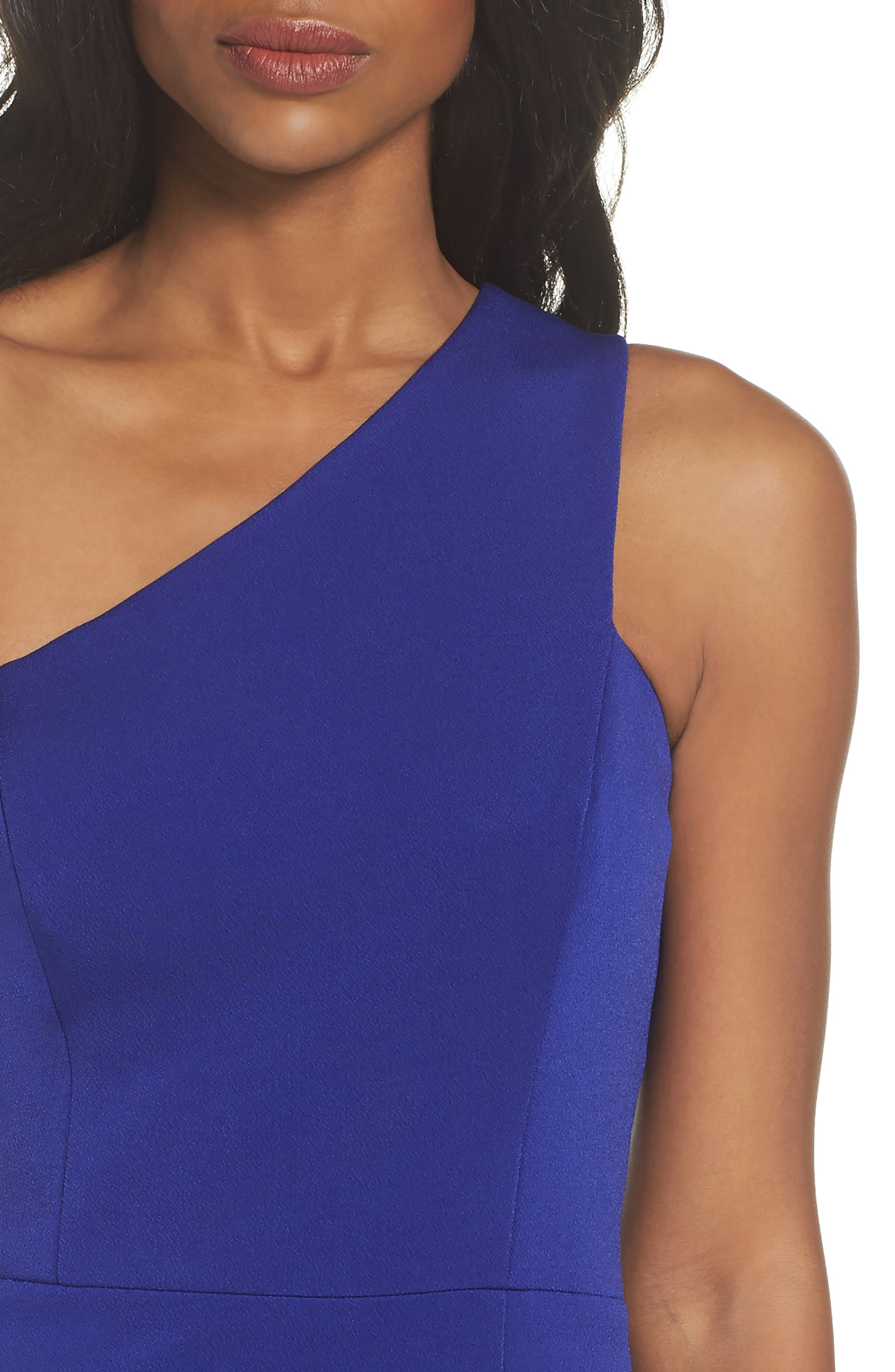 One-Shoulder Sheath Dress,                             Alternate thumbnail 4, color,                             430