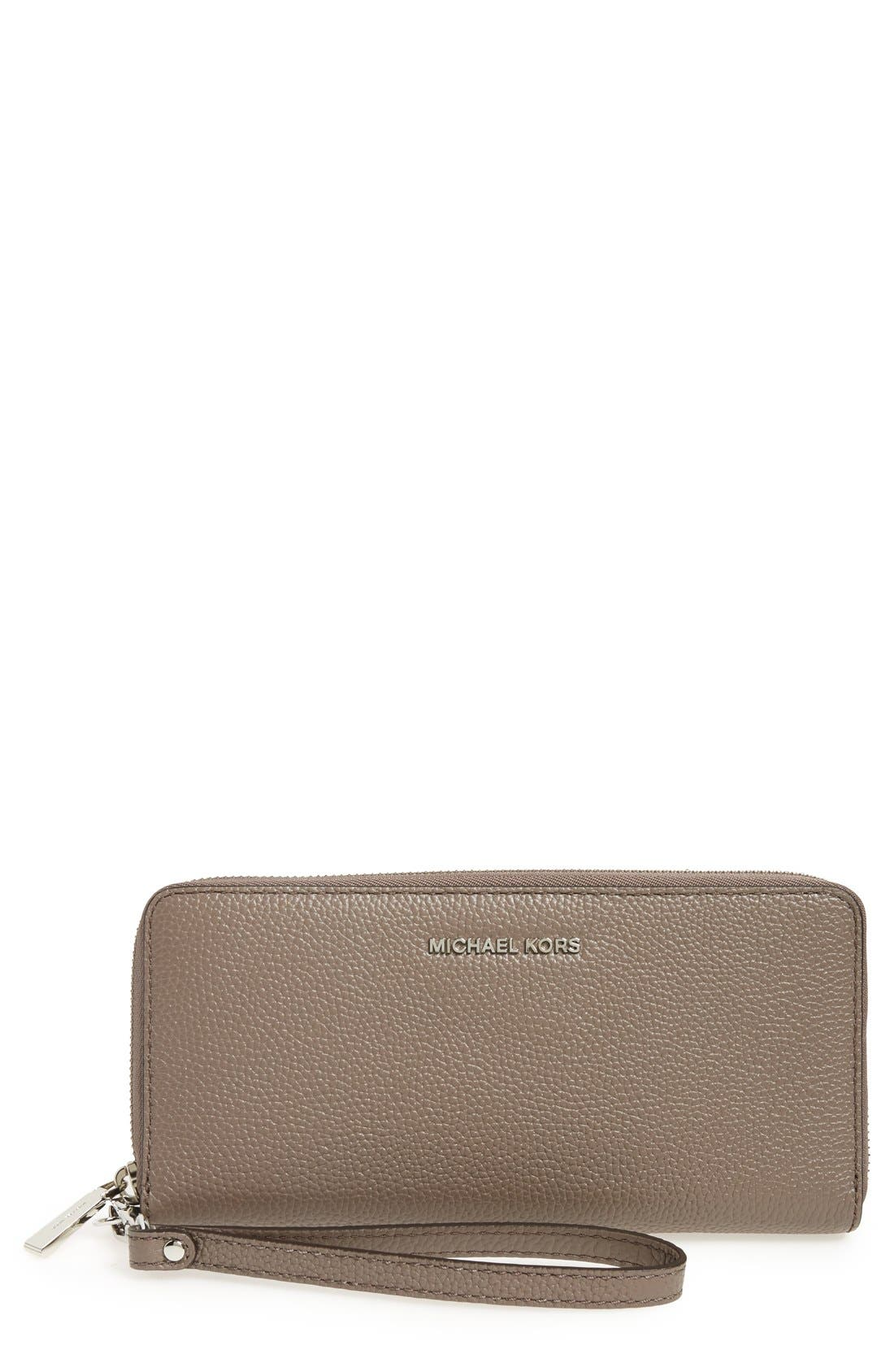 'Mercer' Leather Continental Wallet,                             Main thumbnail 4, color,