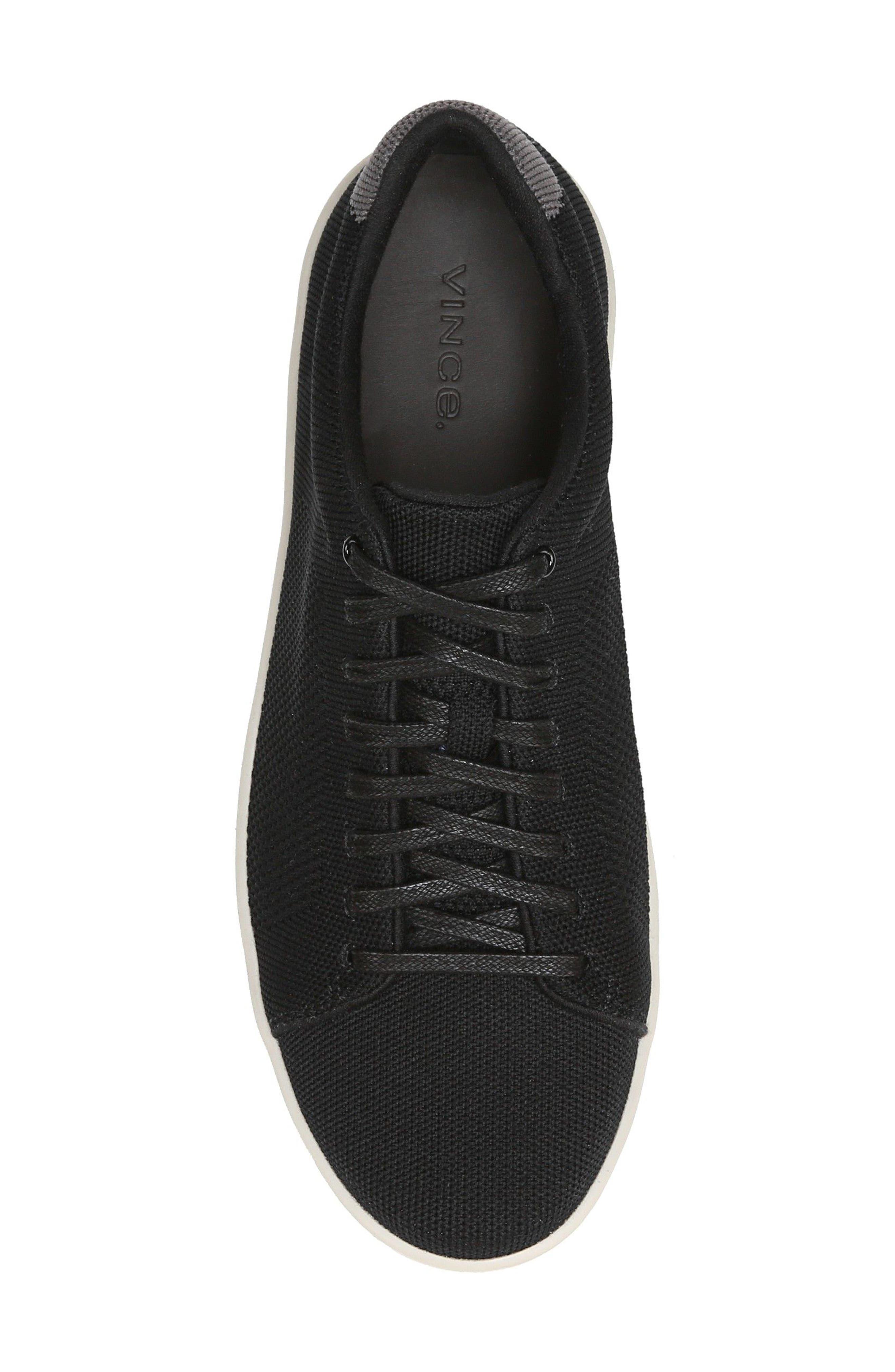 Silos Knit Low Top Sneaker,                             Alternate thumbnail 5, color,                             BLACK/ GRAPHITE