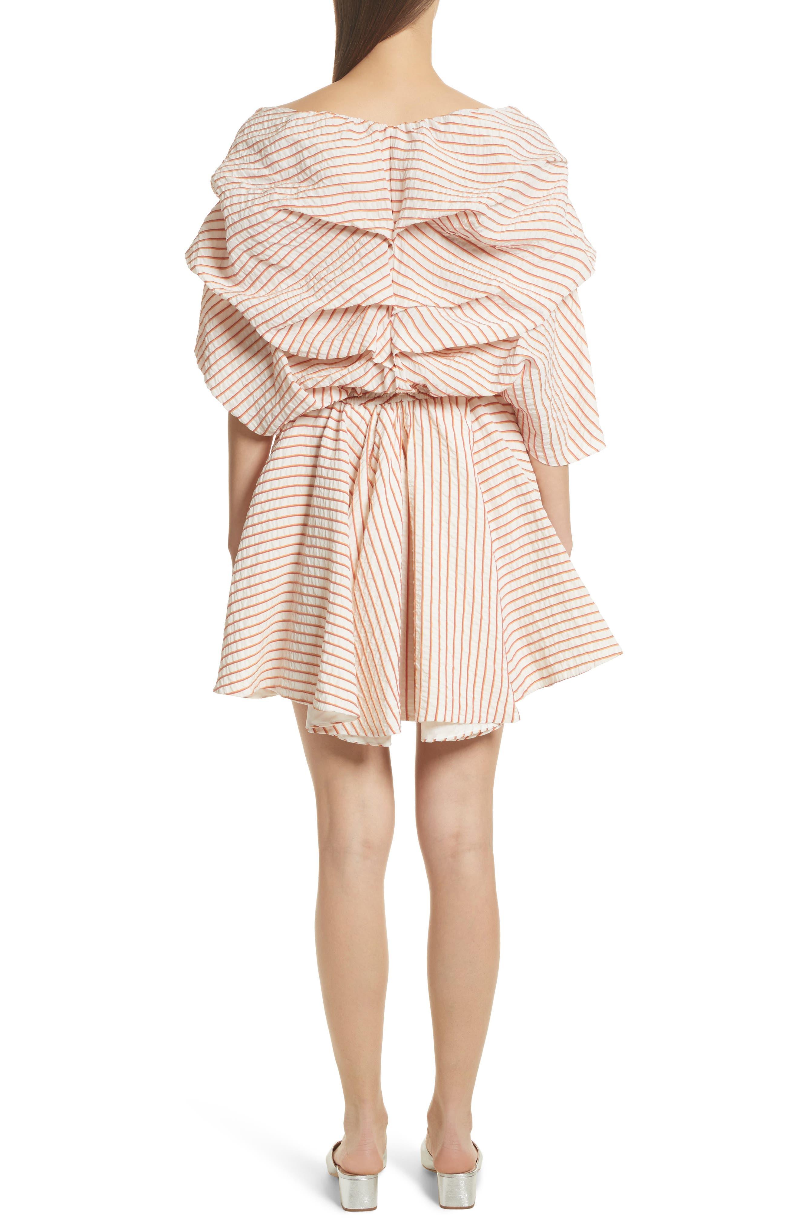 CAROLINE CONSTAS,                             Marcella Stripe Dress,                             Alternate thumbnail 2, color,                             800