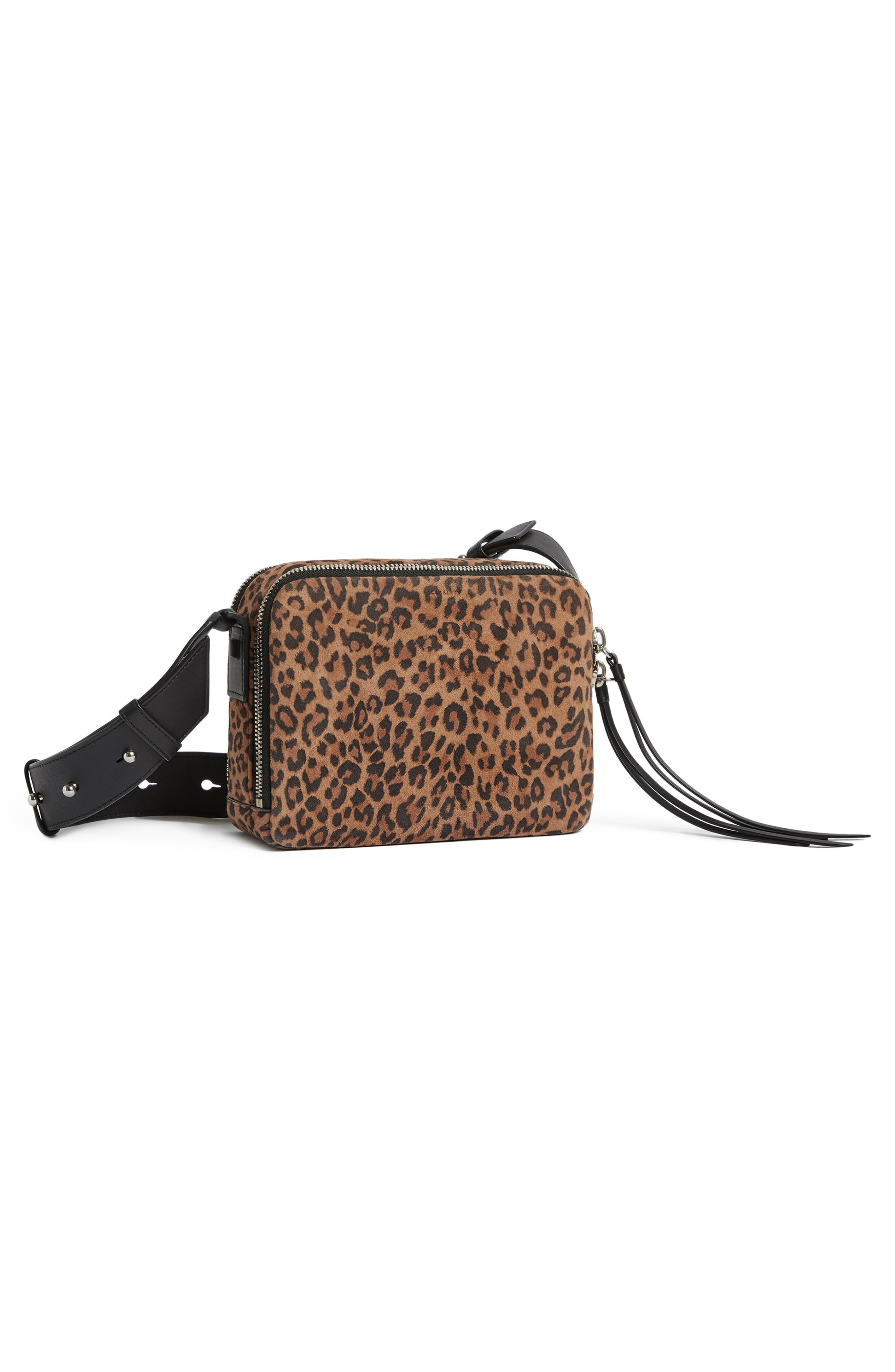 Vincent Leather Crossbody Bag,                             Alternate thumbnail 9, color,                             LEOPARD/ BLACK