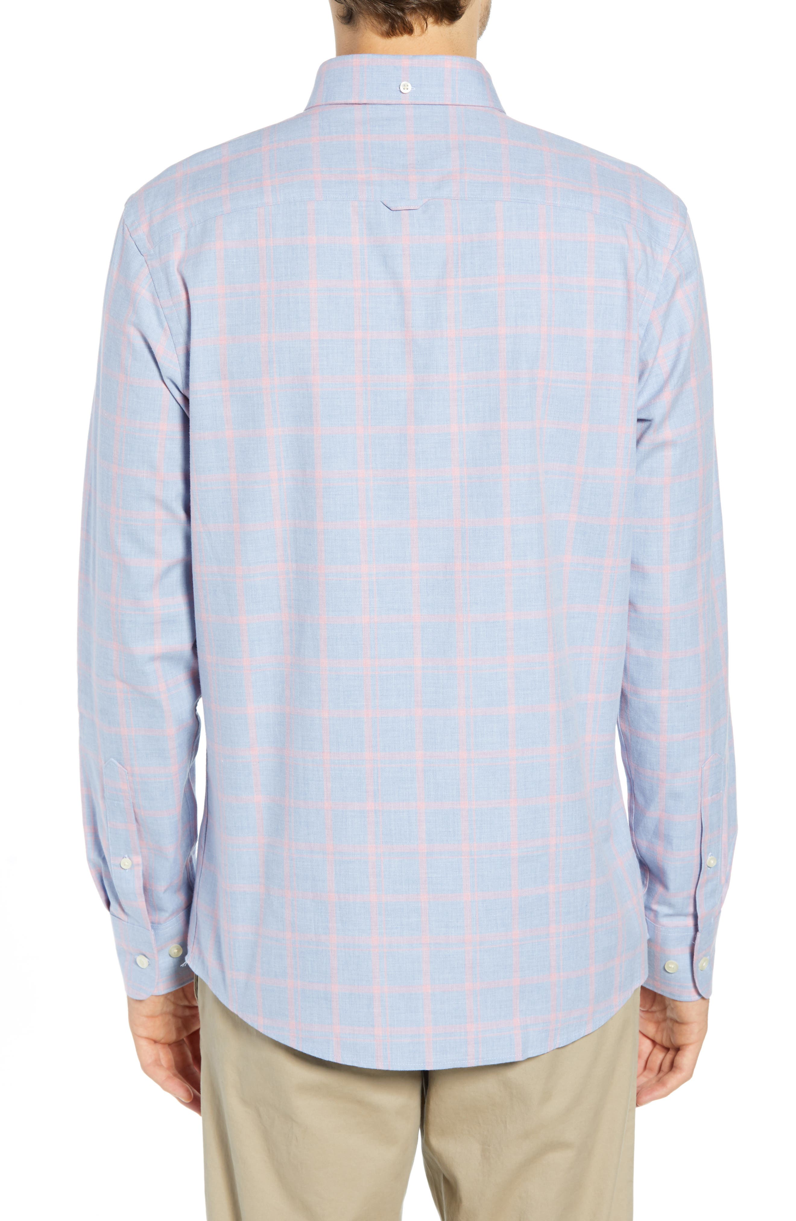 Slim Fit Chambray Sport Shirt,                             Alternate thumbnail 3, color,                             450