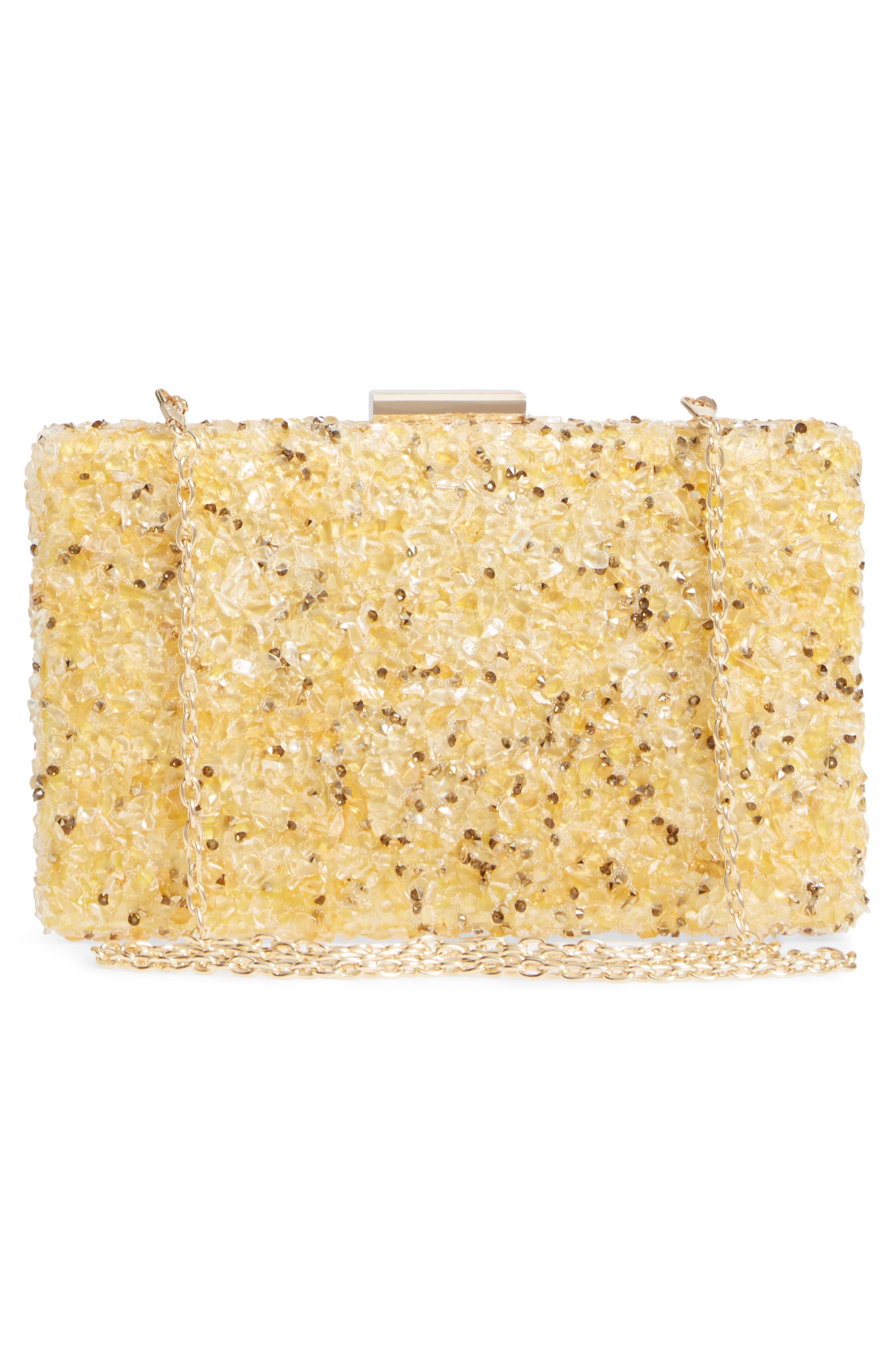 Chips Embellished Box Clutch,                             Alternate thumbnail 10, color,