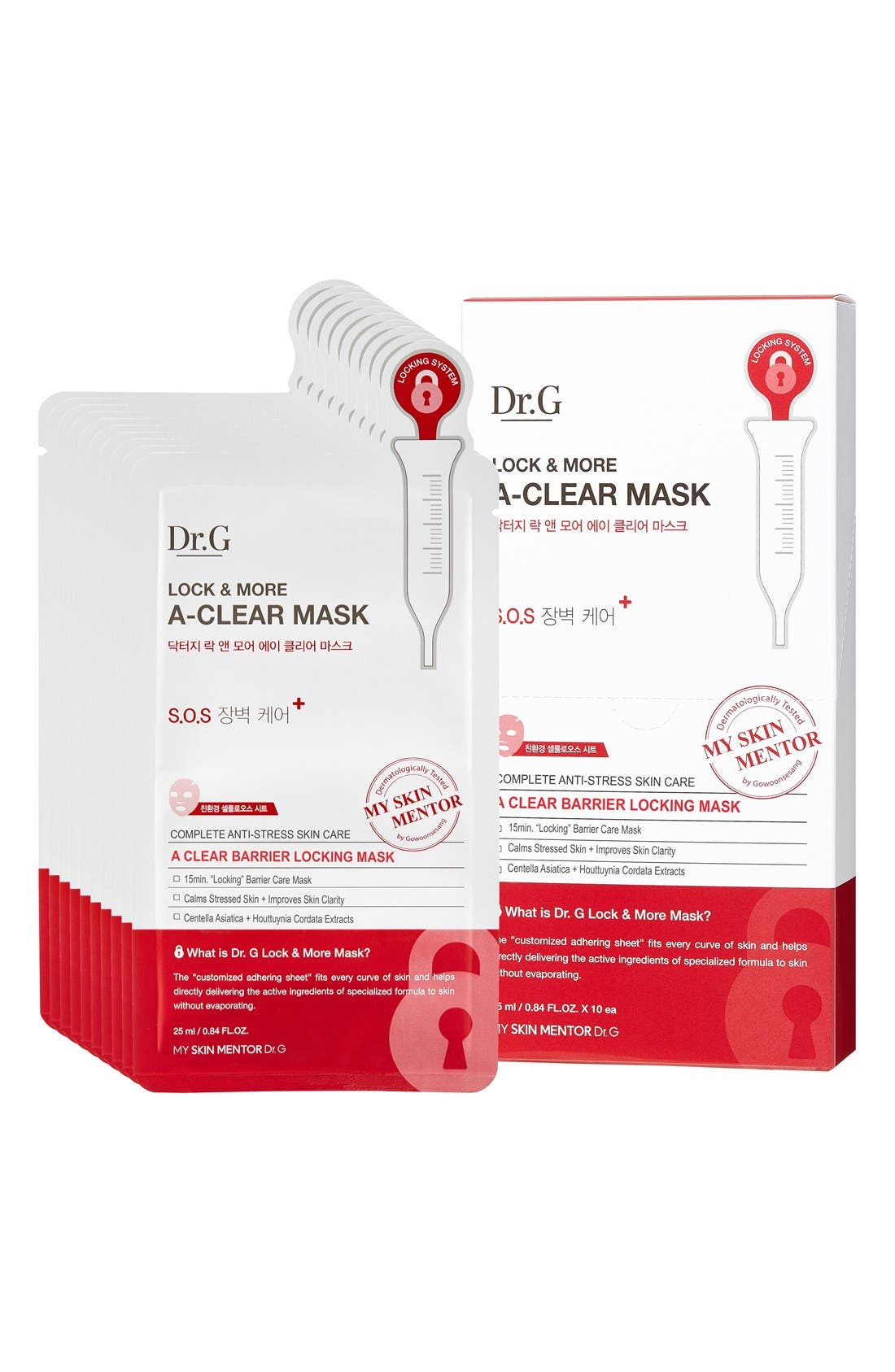 Lock and More A-Clear Mask,                         Main,                         color, 000
