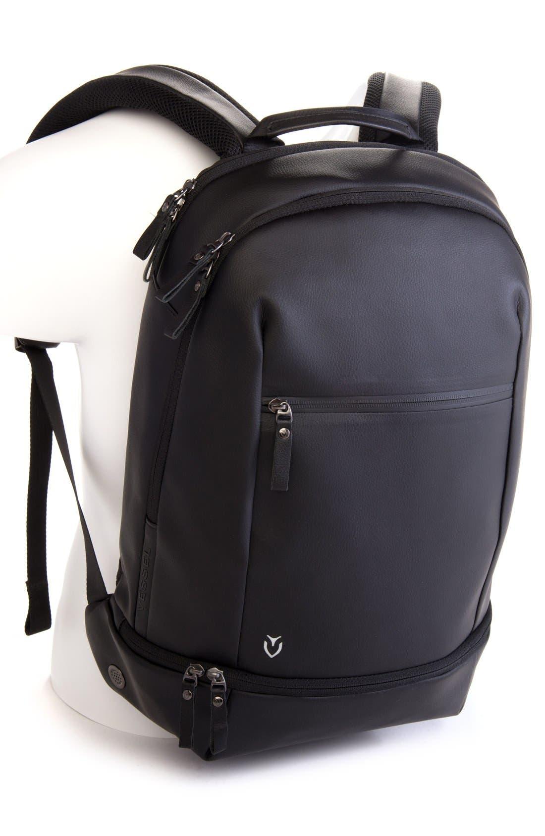 'Signature' Backpack,                             Alternate thumbnail 2, color,                             PEBBLED BLACK