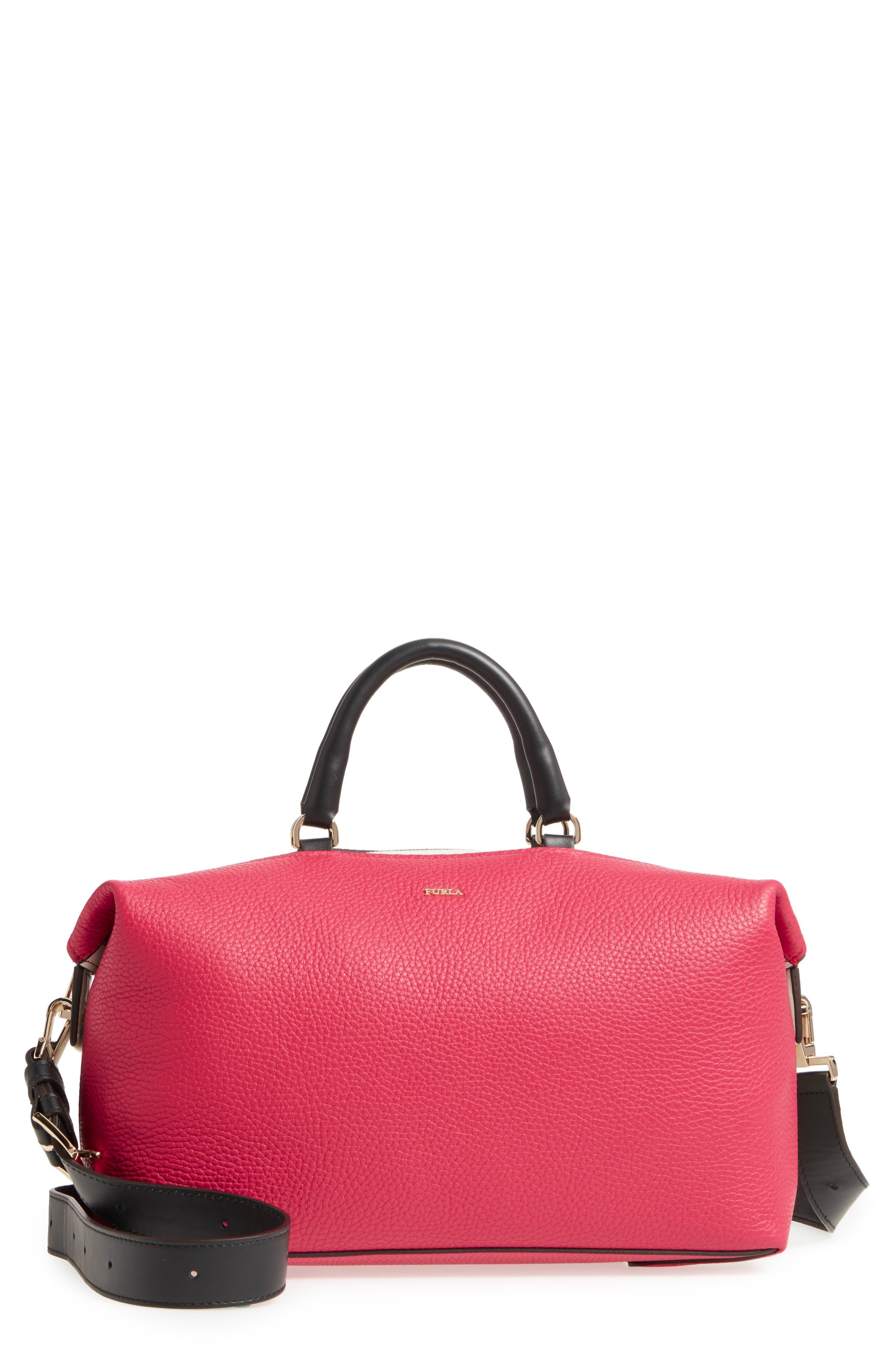 Blogger Colorblock Leather Satchel,                         Main,                         color, 625