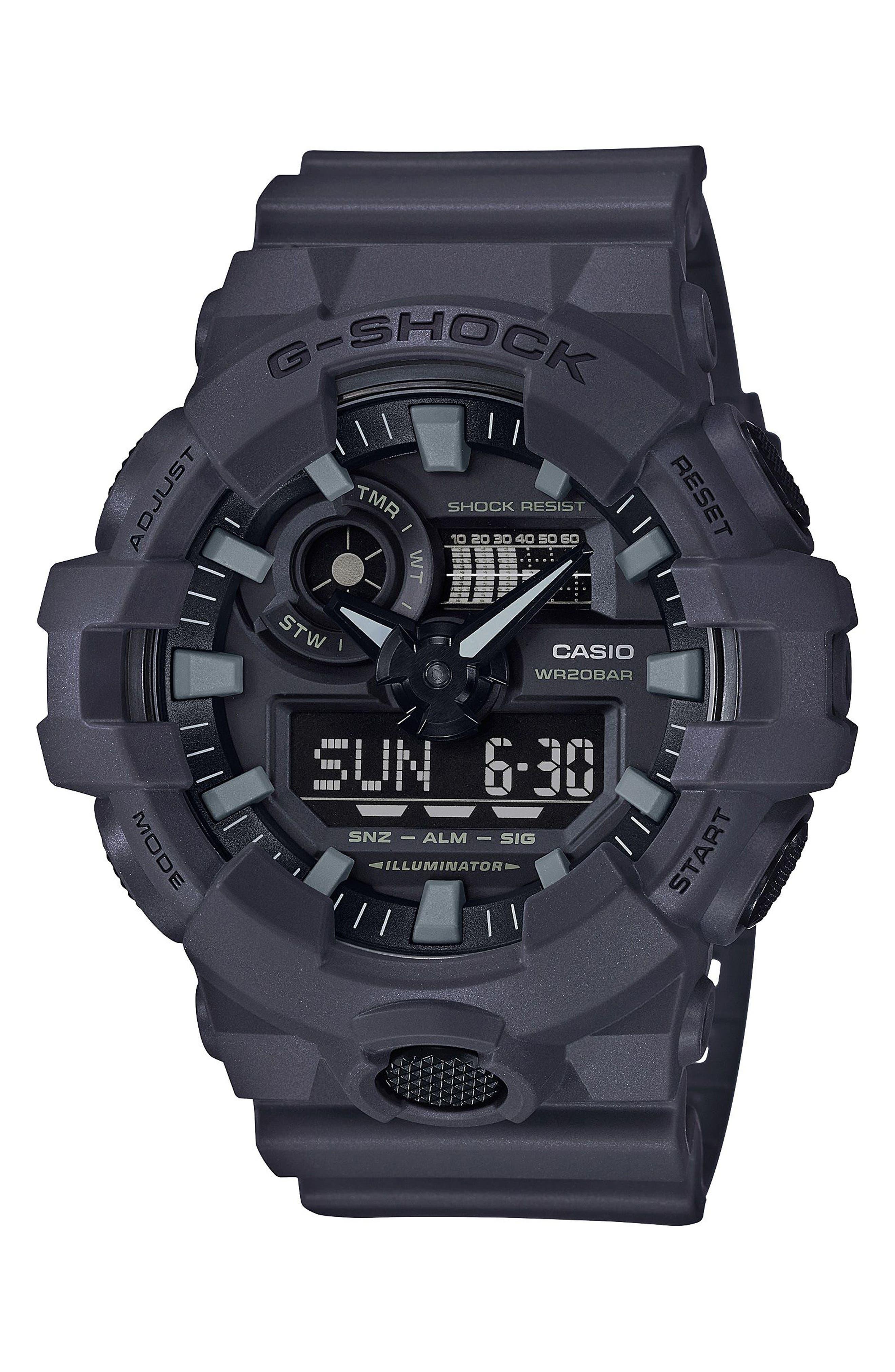 Military Ana-Digi Watch, 53mm,                             Main thumbnail 1, color,                             GREY/ BLACK