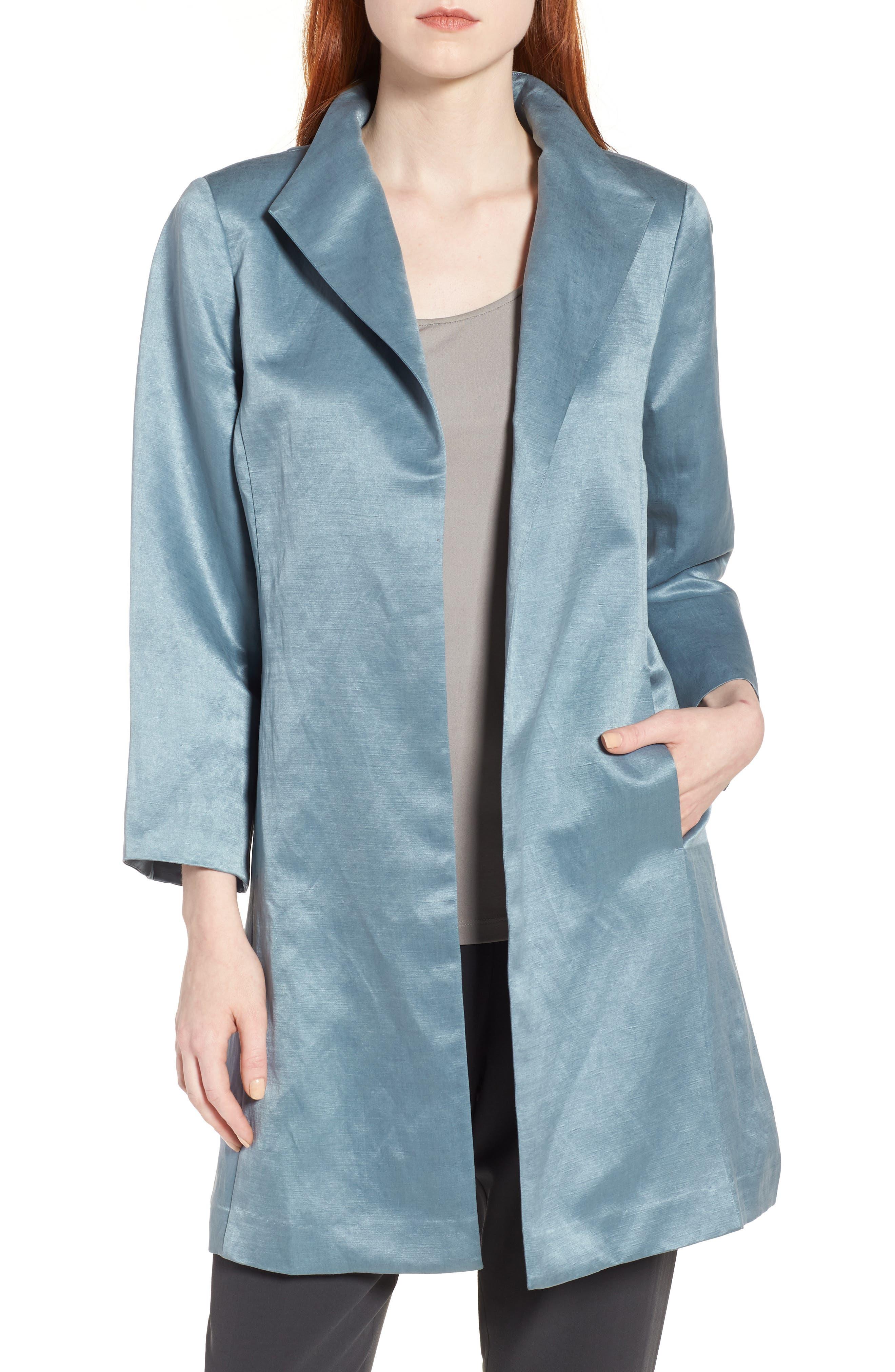 High Collar Long Jacket,                             Main thumbnail 2, color,