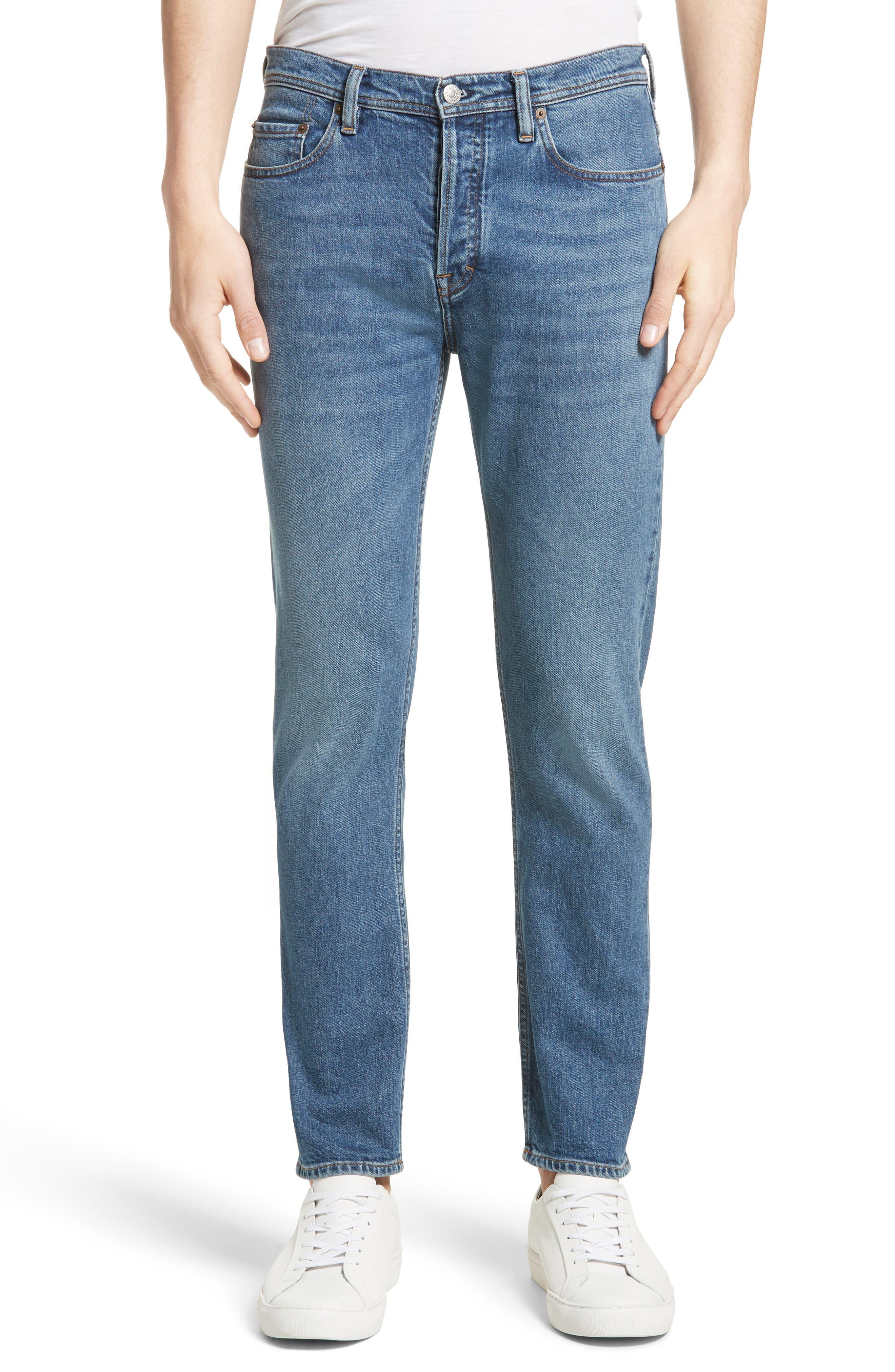 River Slim Taper Jeans,                         Main,                         color, MID BLUE
