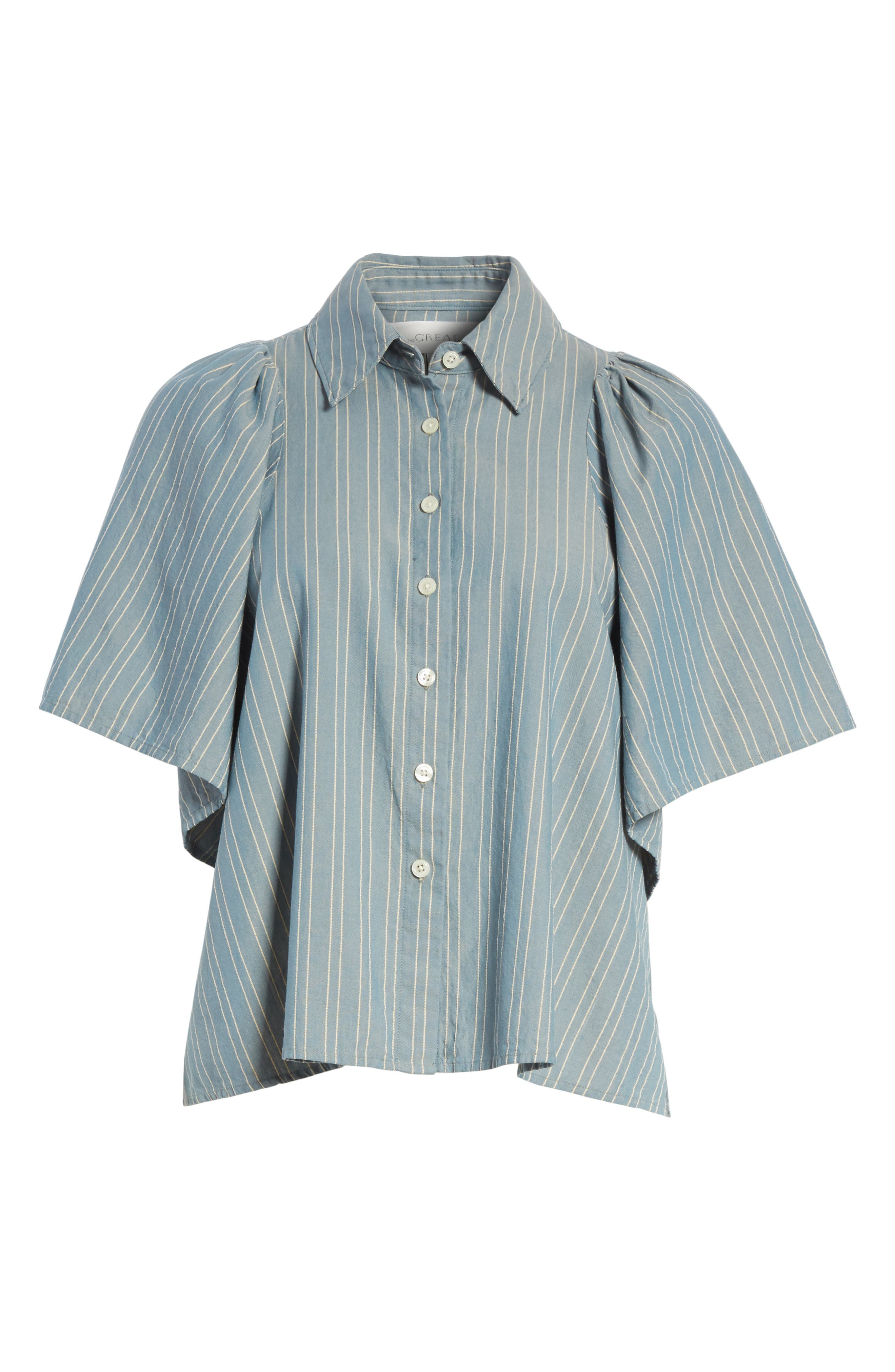 The Butterfly Button Up Shirt,                             Alternate thumbnail 6, color,                             407