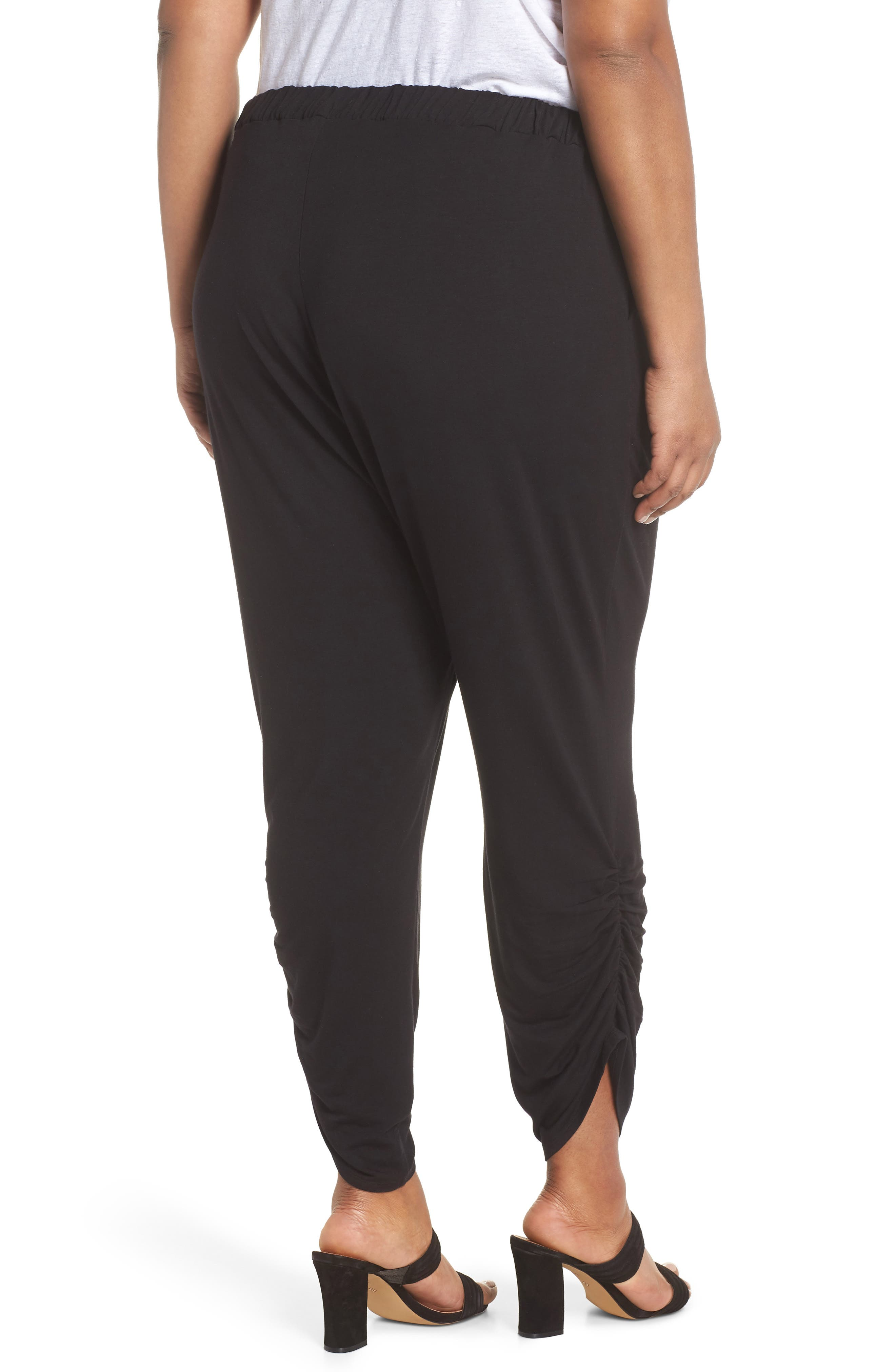 Cinch Hem Harem Pants,                             Alternate thumbnail 2, color,                             001