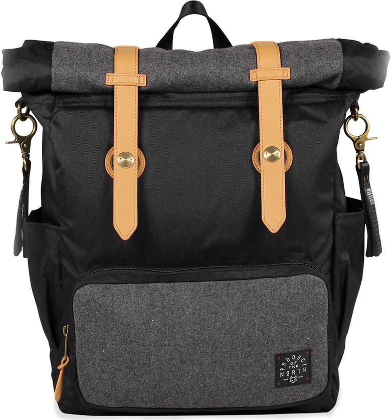 Westin Rolldown Diaper Backpack, Main, color, BLACK